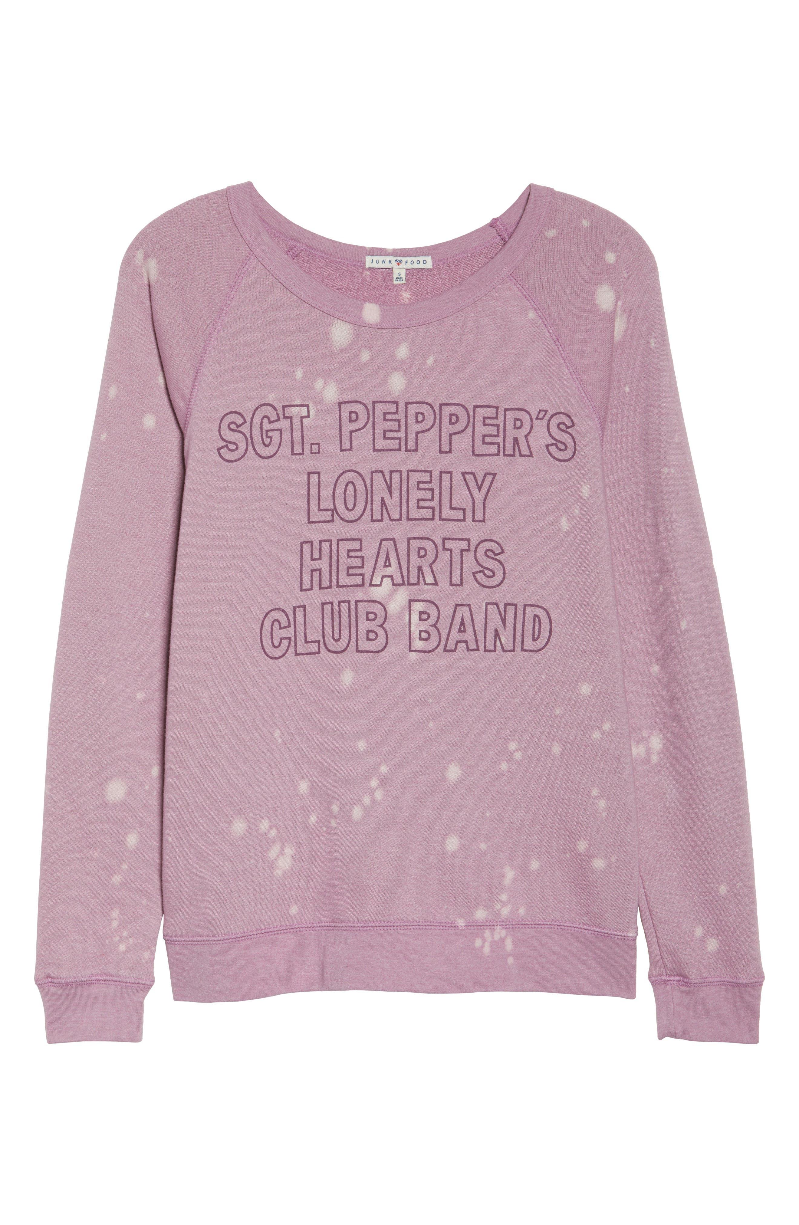 Lonely Hearts Club Sweatshirt,                             Alternate thumbnail 6, color,                             650