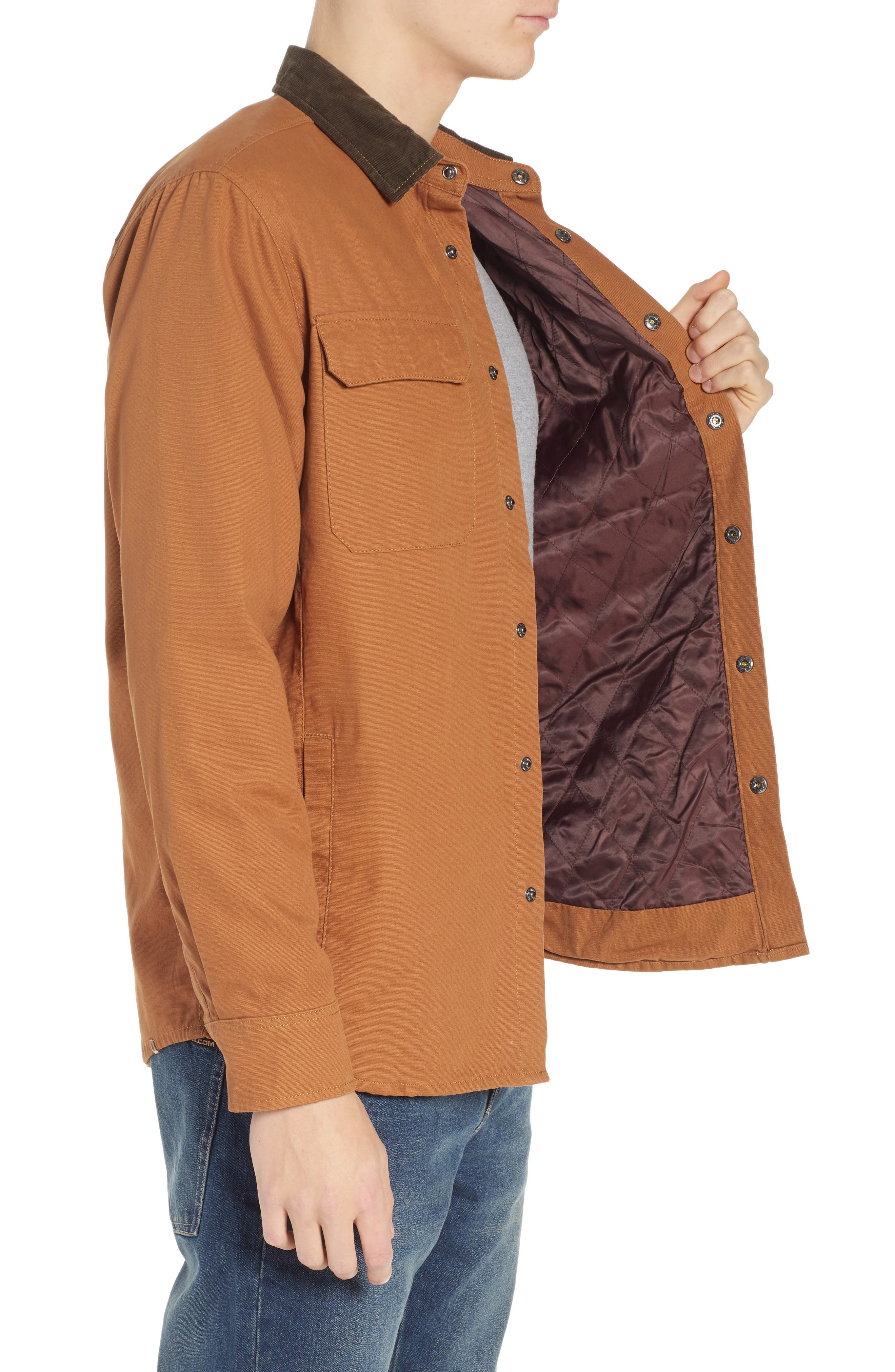 Larkin Classic Fit Jacket,                             Alternate thumbnail 3, color,                             CAMEL