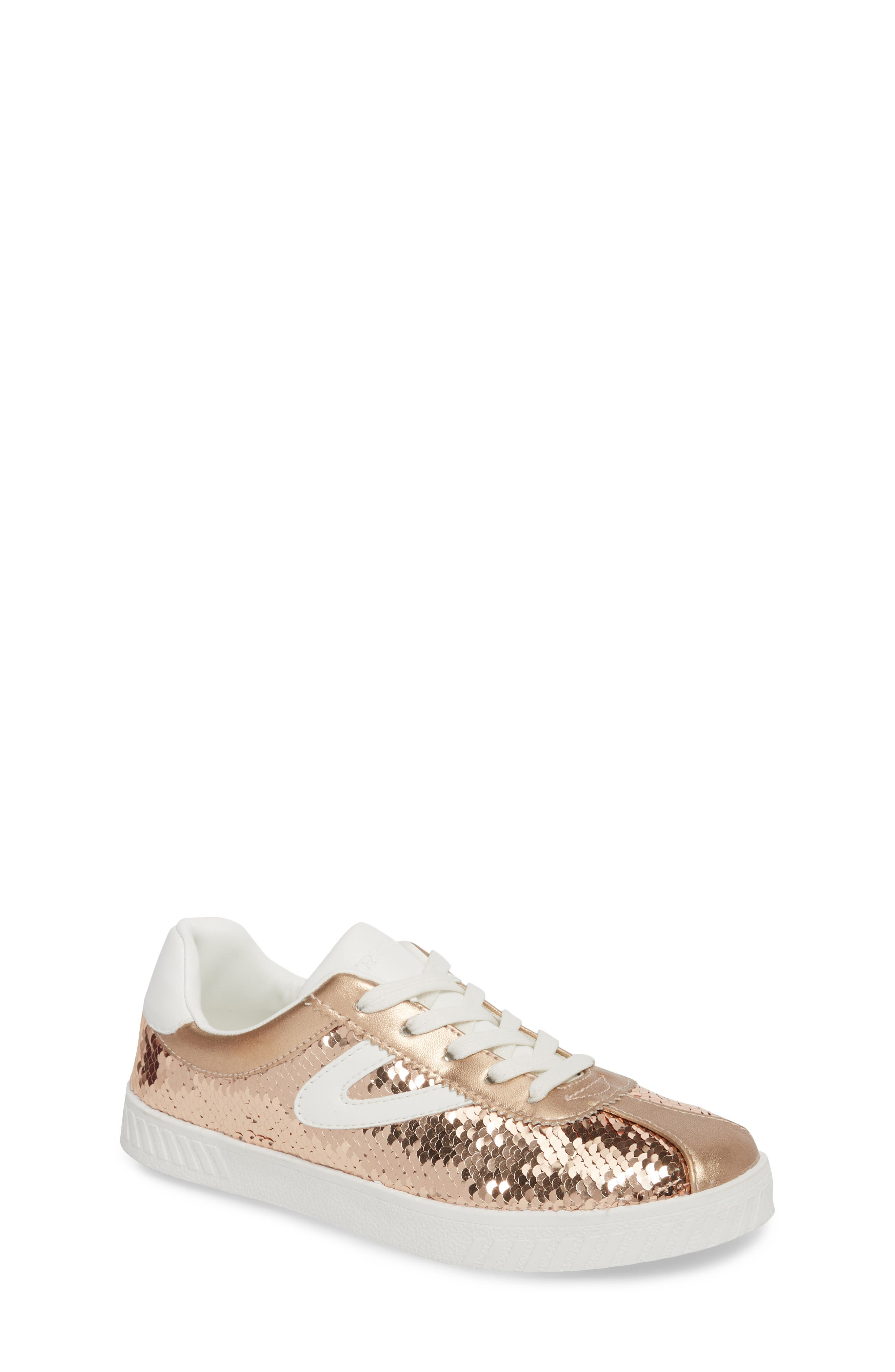 Camden Sequin Low Top Sneaker,                             Main thumbnail 1, color,                             DARK PINK