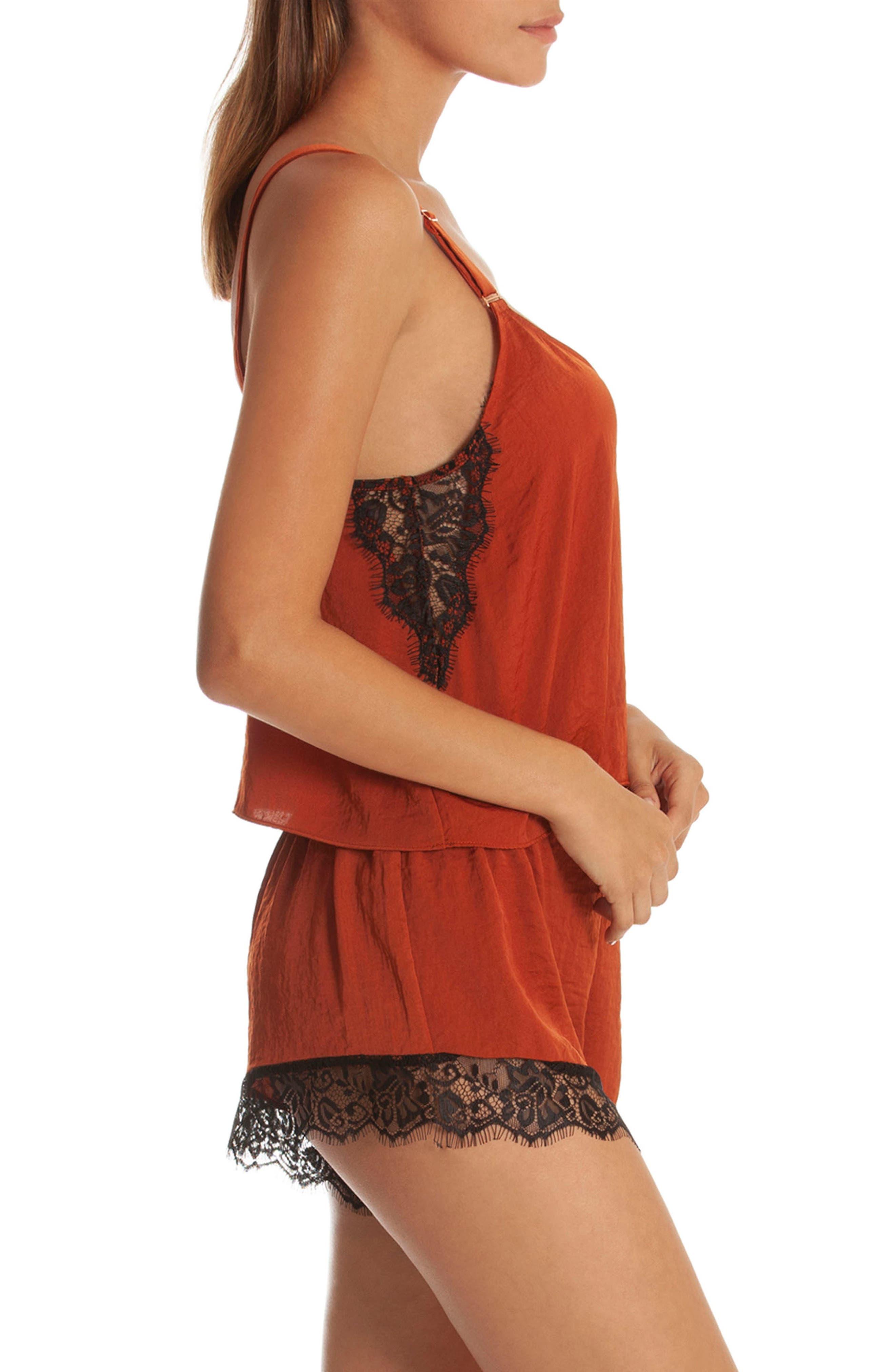 Lace Trim Short Pajamas,                             Alternate thumbnail 3, color,                             220