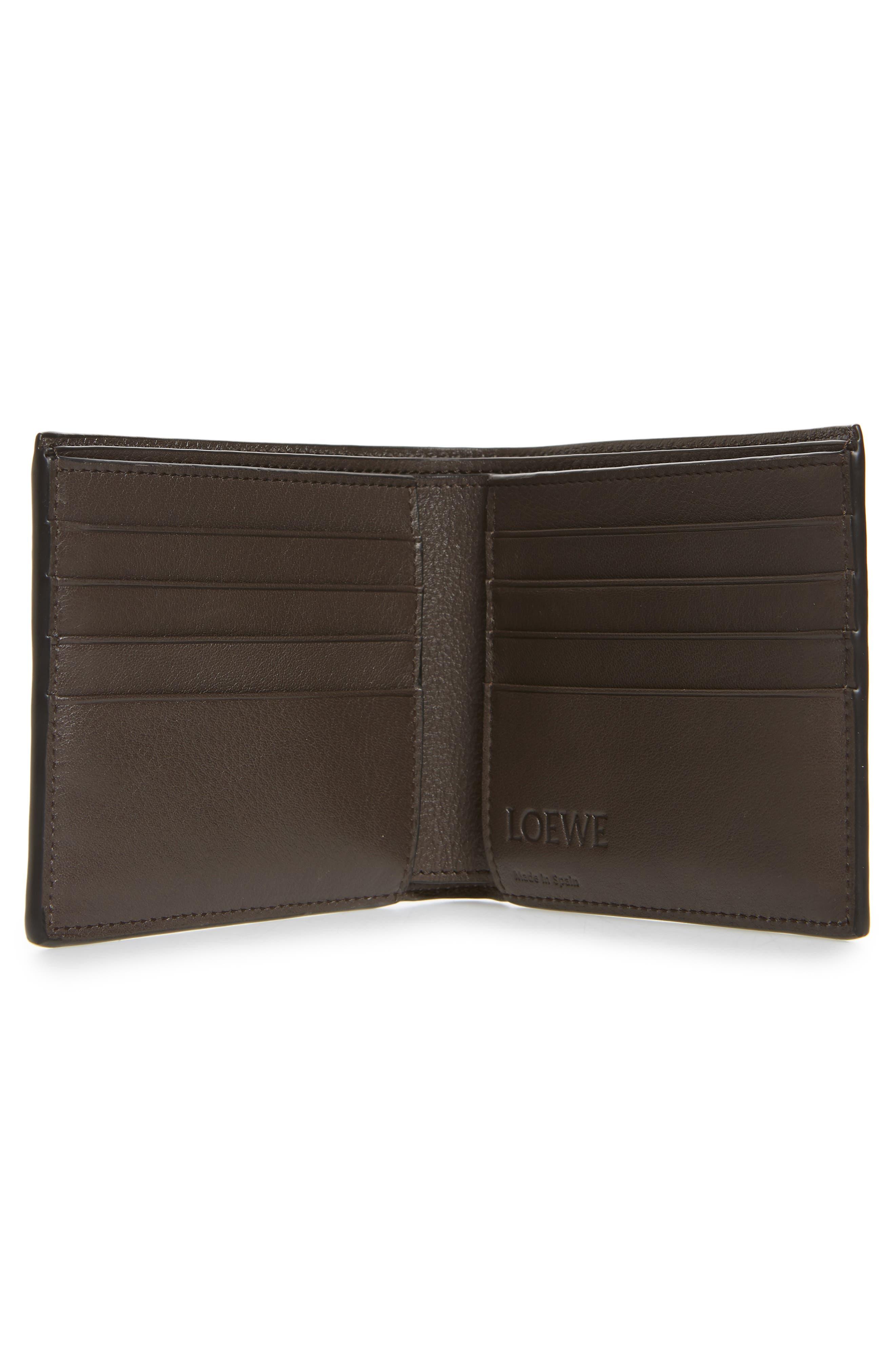 LOEWE,                             Calfskin Leather Bifold Wallet,                             Alternate thumbnail 2, color,                             MIDNIGHT