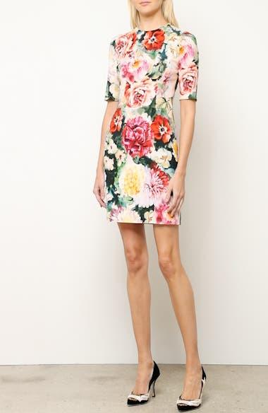 Floral Print Cady Dress, video thumbnail