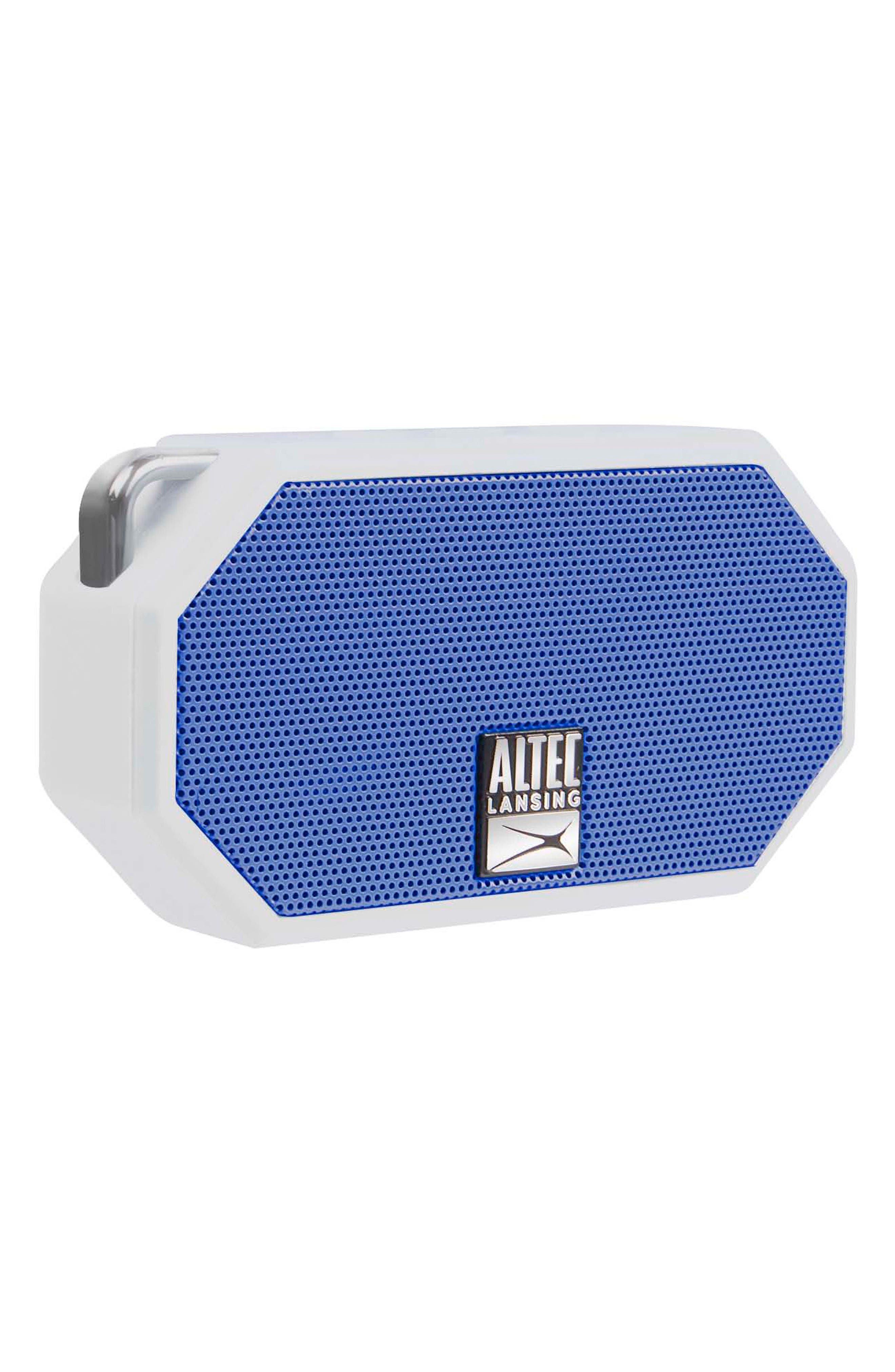 ALTEC LANSING,                             Mini H2O 3 Waterproof Compact Speaker,                             Alternate thumbnail 3, color,                             WHTE/ DEEP MID BLUE