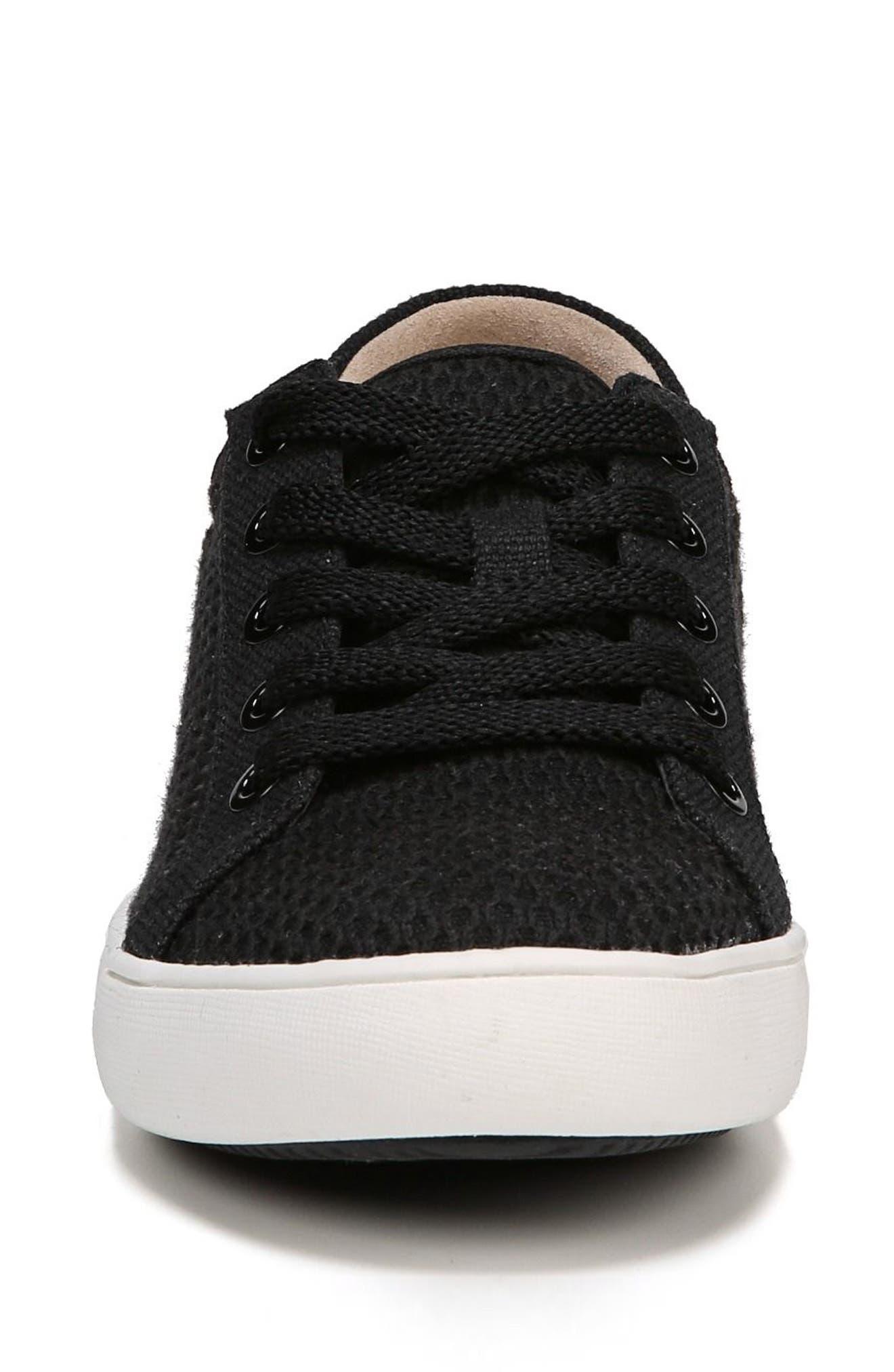 Morrison III Perforated Sneaker,                             Alternate thumbnail 4, color,                             BLACK FABRIC