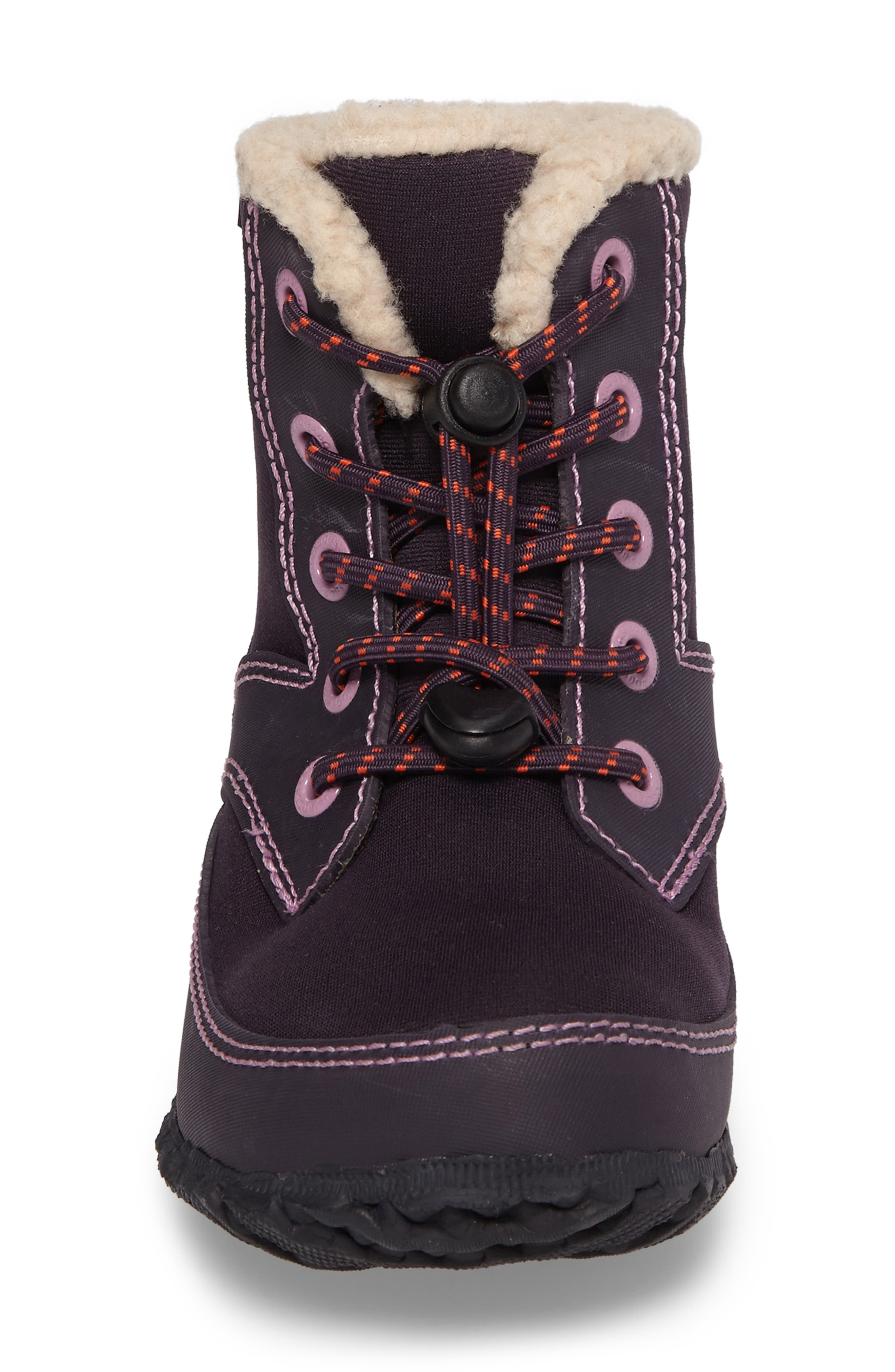 Skyler Faux Fur Insulated Waterproof Boot,                             Alternate thumbnail 4, color,                             EGGPLANT MULTI