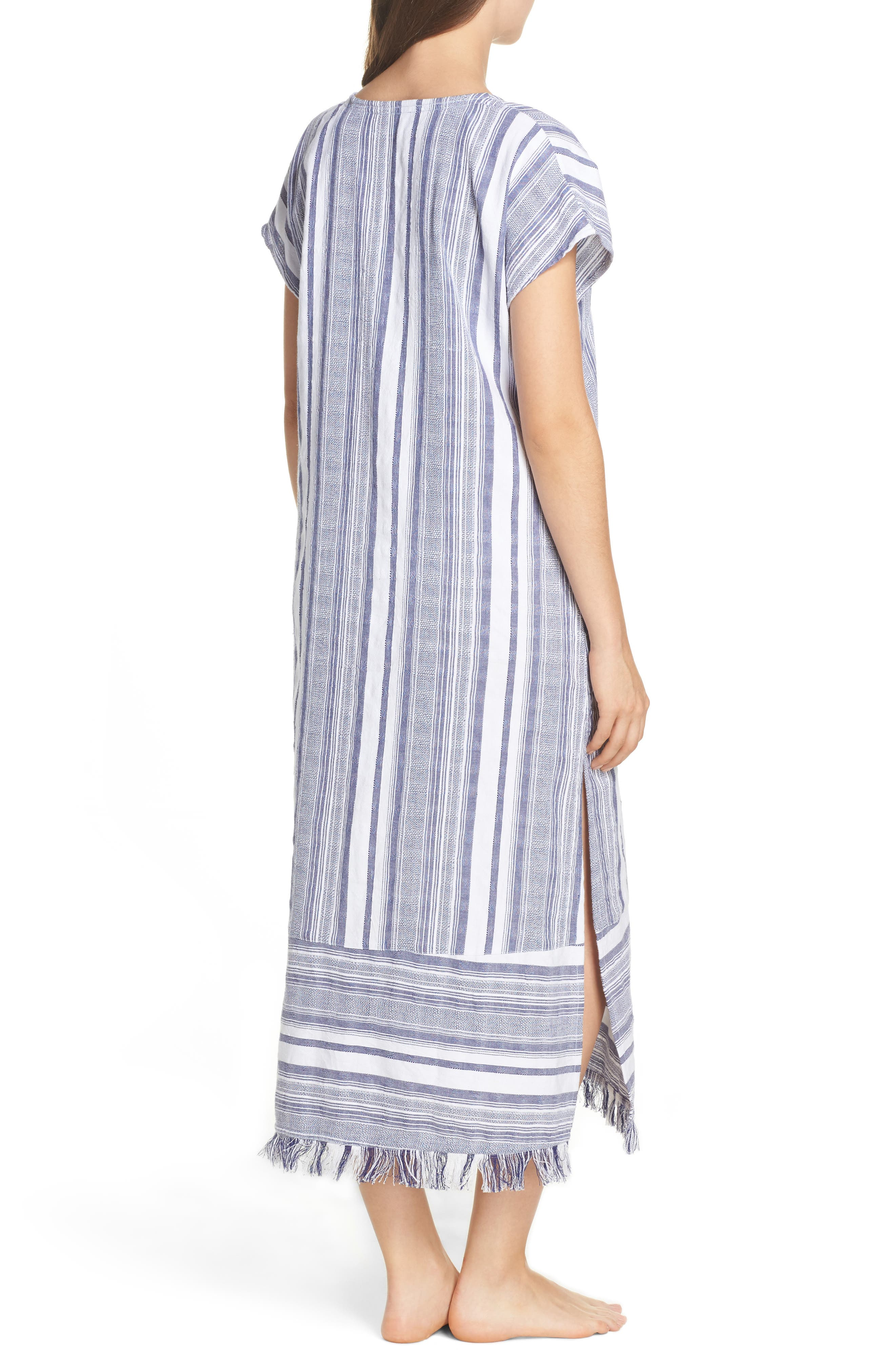 Yarn Dye Stripe Cover-Up Dress,                             Alternate thumbnail 2, color,                             100