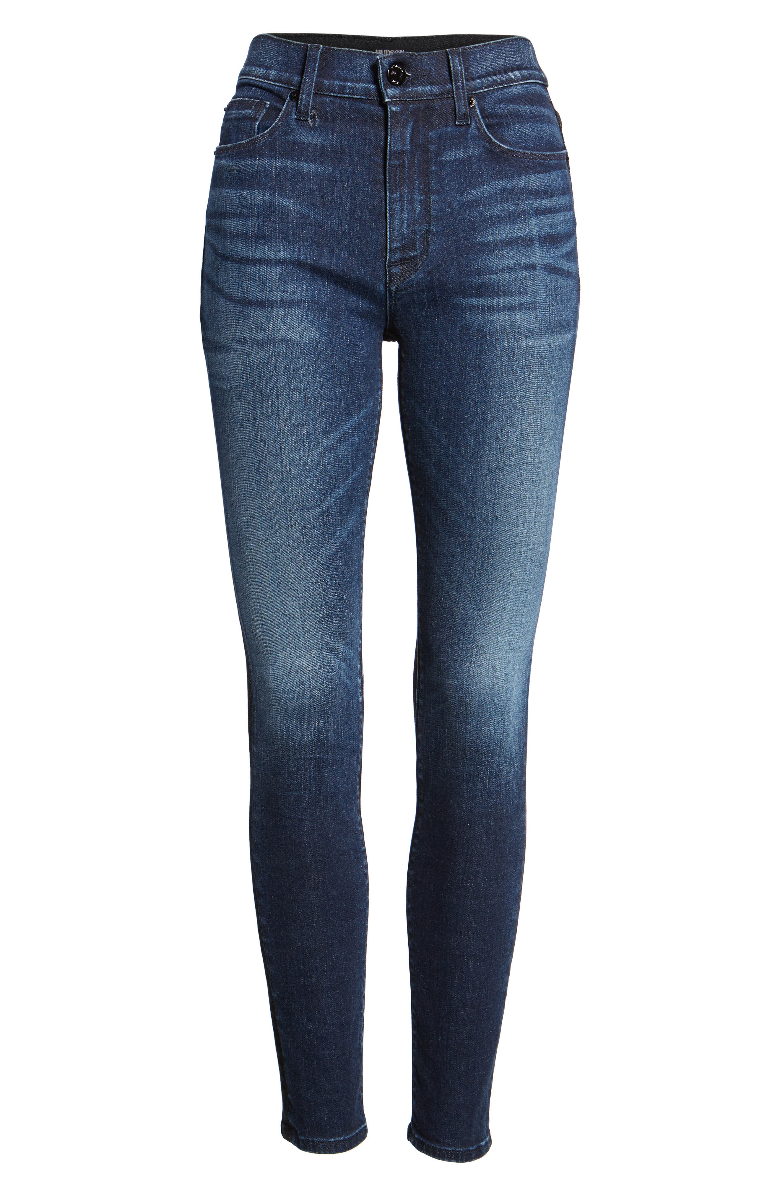 Barbara High Waist Ankle Skinny Jeans,                             Alternate thumbnail 7, color,                             006