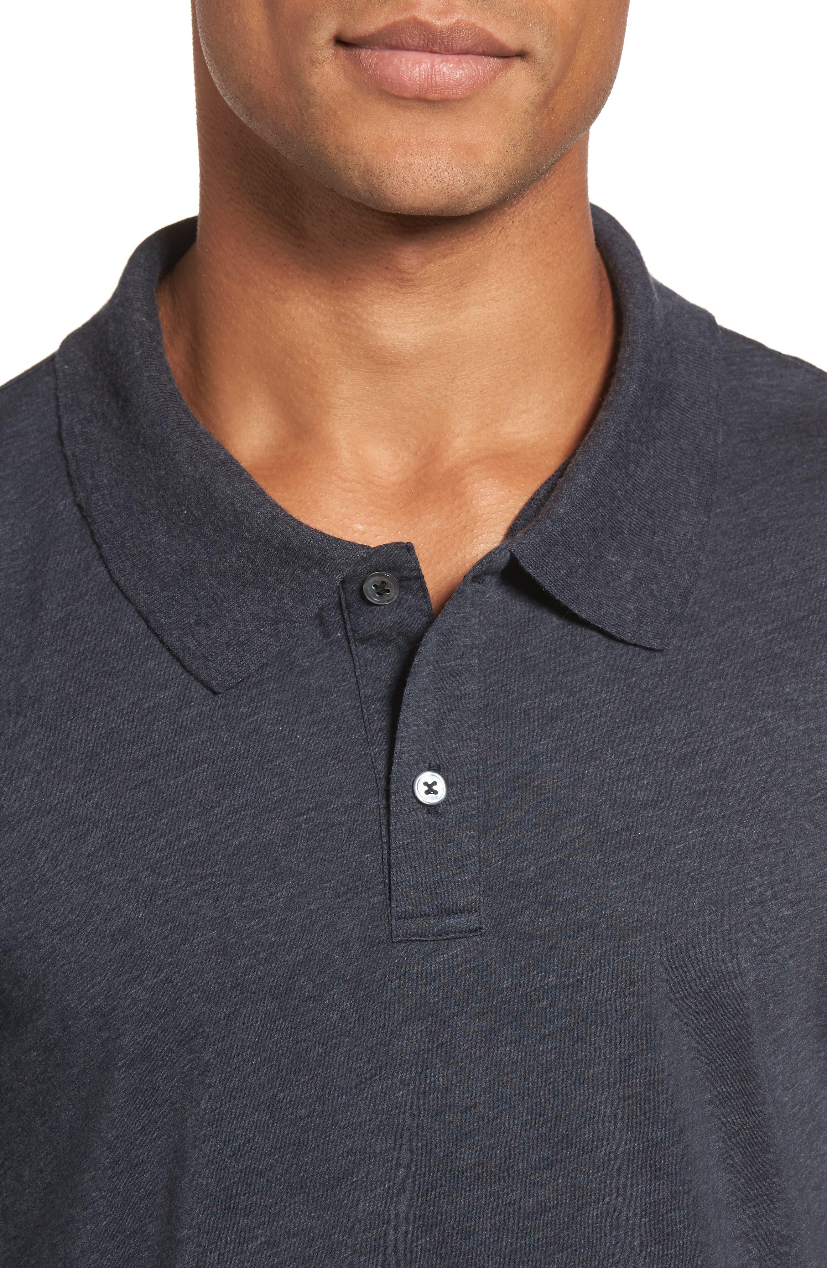 Clean Cotton & Cashmere Polo,                             Alternate thumbnail 4, color,                             411
