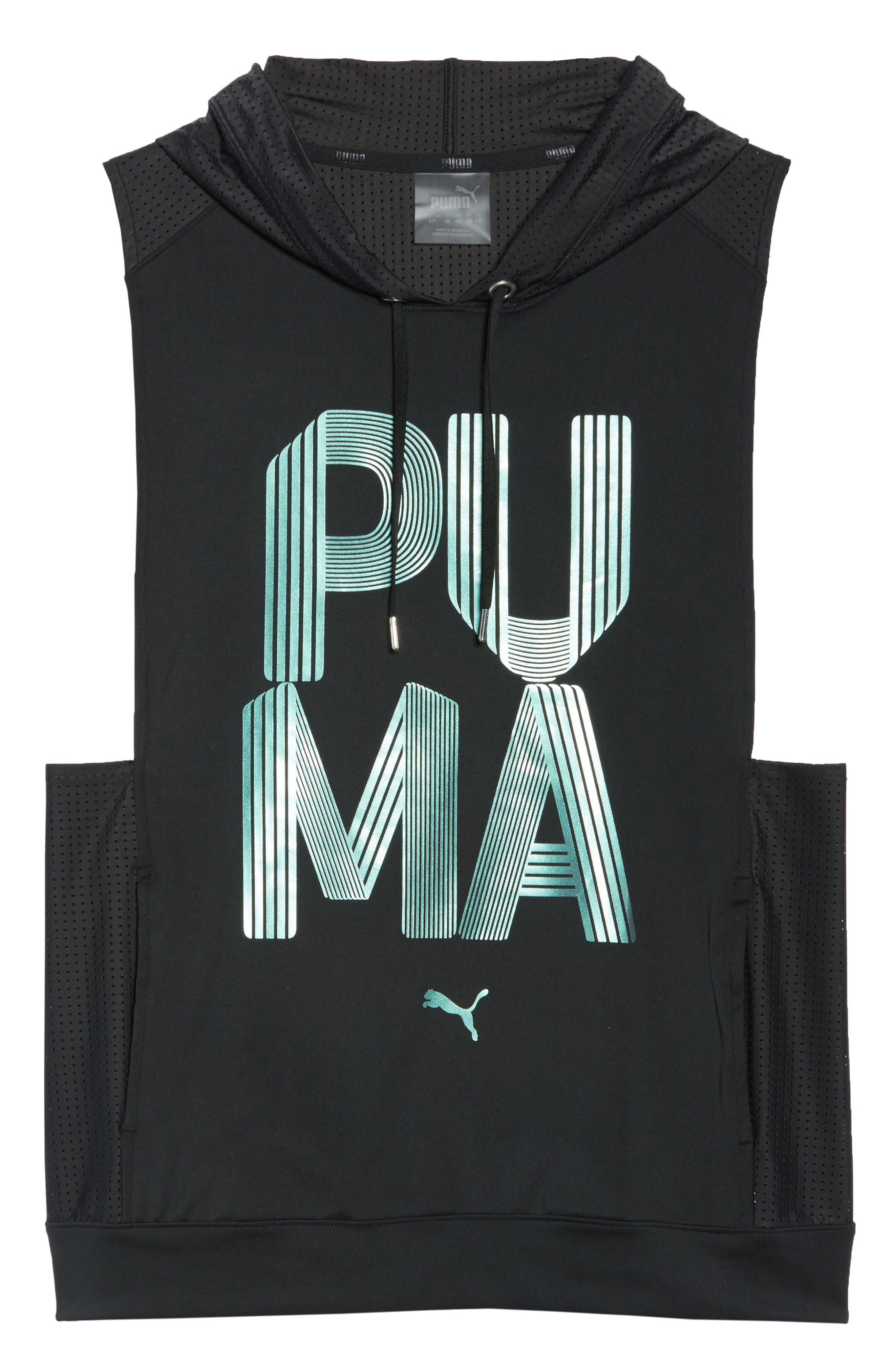 Punch Sleeveless Hoodie,                             Alternate thumbnail 7, color,                             003