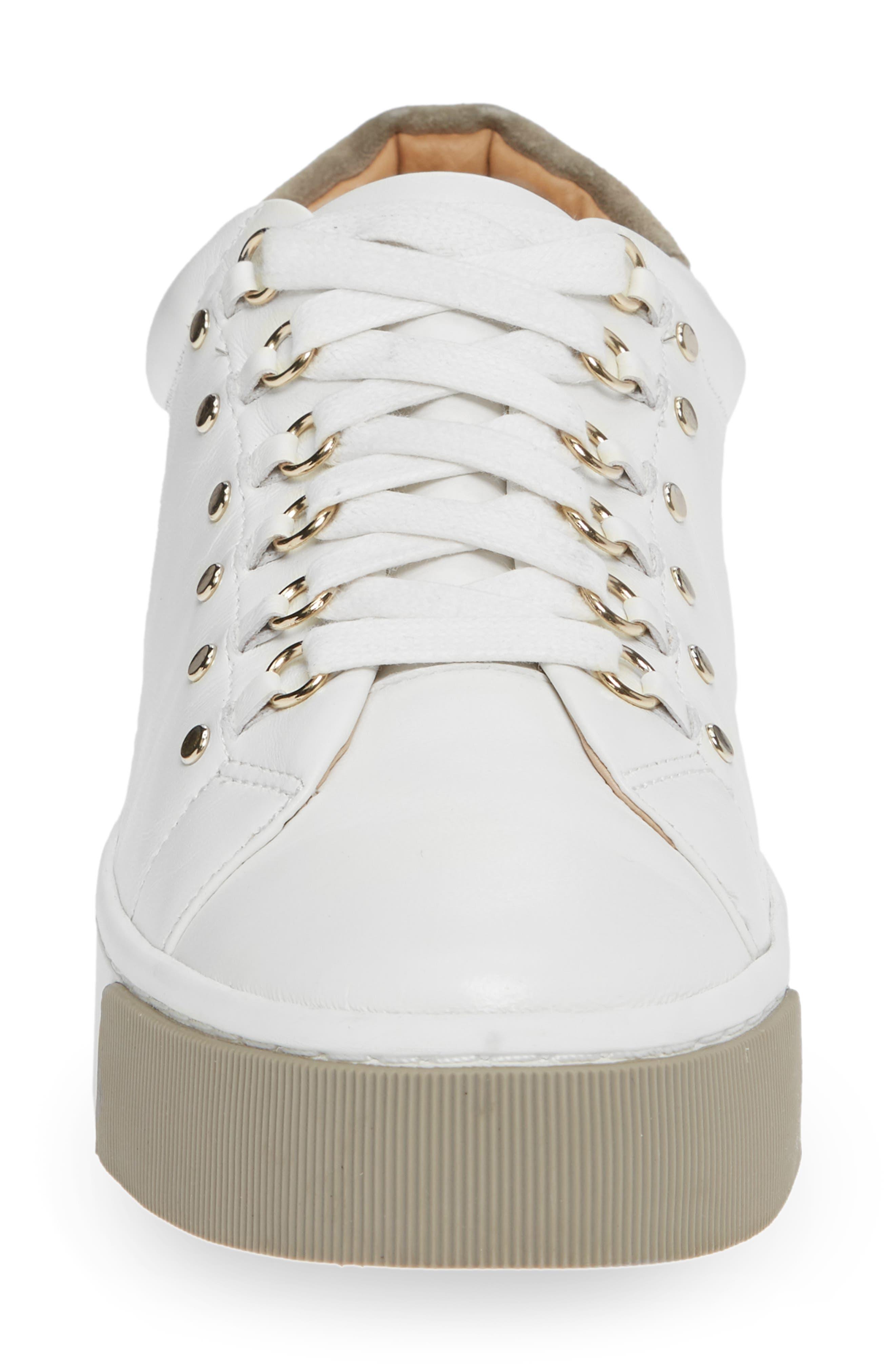 Handan Lace-Up Sneaker,                             Alternate thumbnail 4, color,                             WHITE