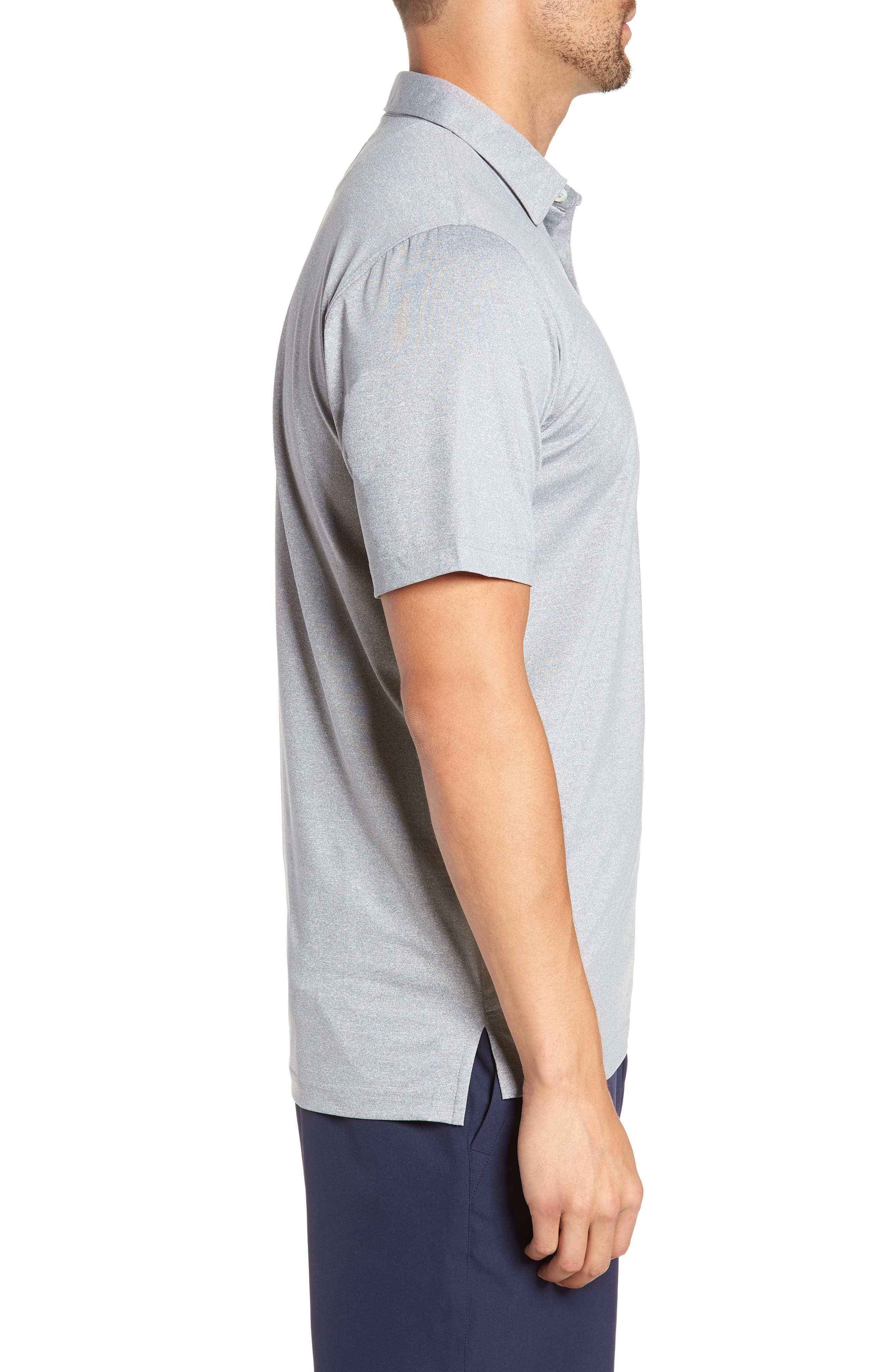 Birdie Classic Fit Performance Polo,                             Alternate thumbnail 3, color,                             METEOR