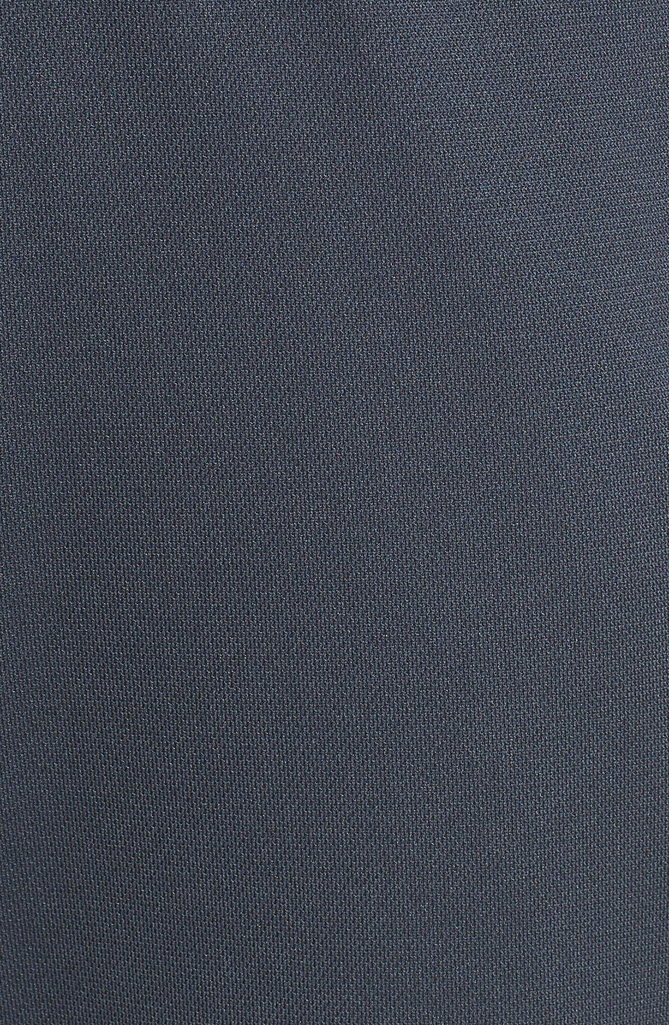 Sportstyle Slim Piqué Track Pants,                             Alternate thumbnail 5, color,                             STEALTH GRAY / / WHITE