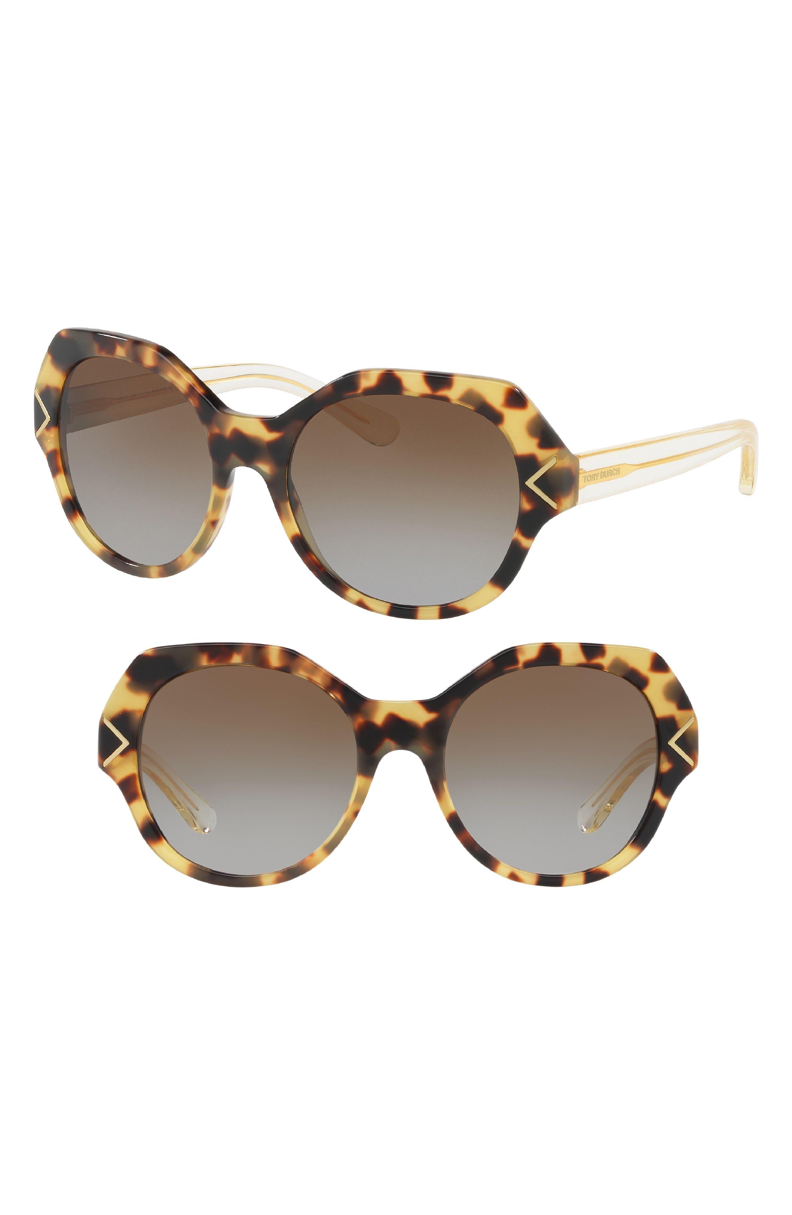 53mm Polarized Gradient Geometric Sunglasses,                             Alternate thumbnail 3, color,