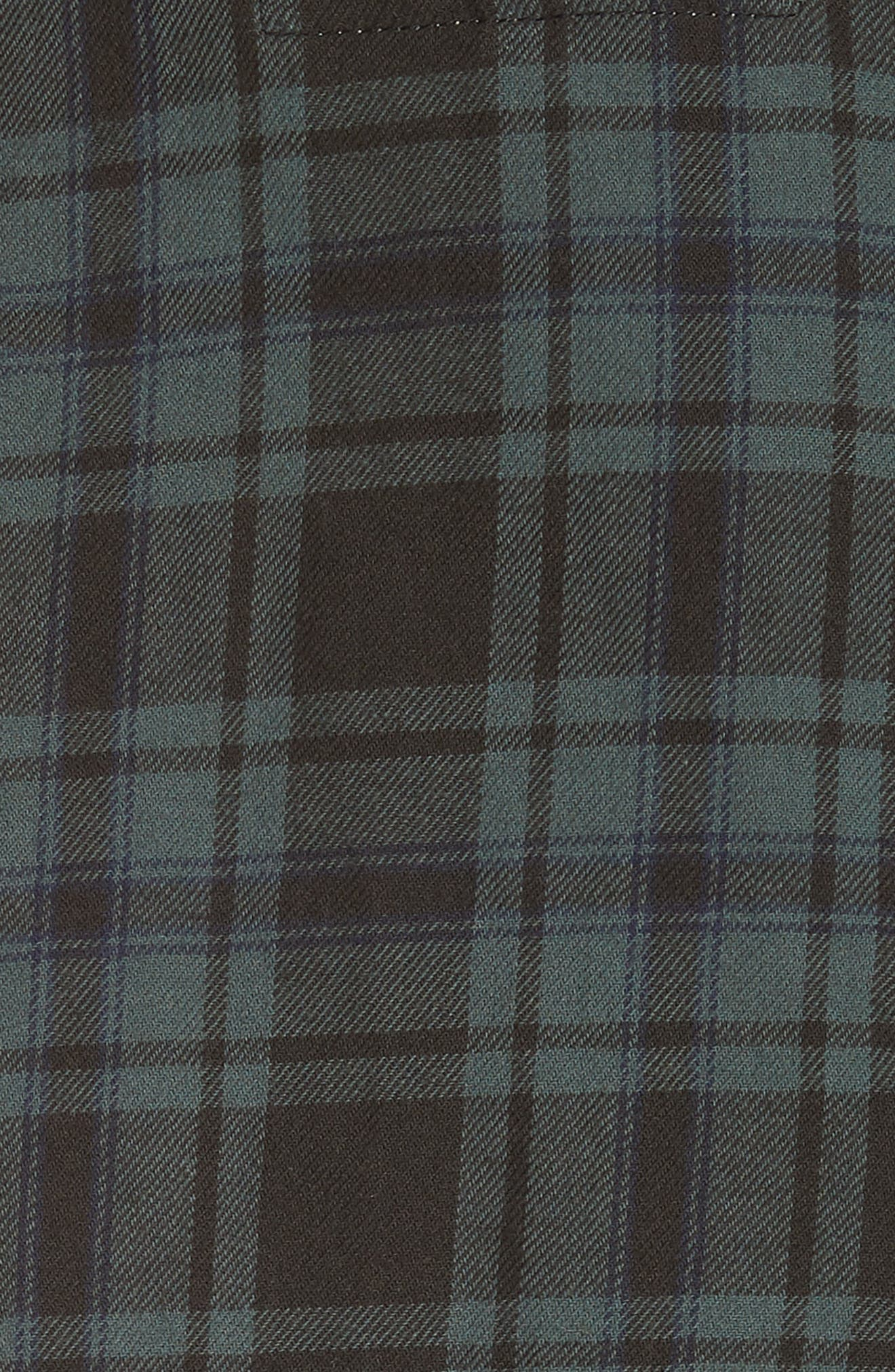 THE GREAT.,                             The Bow Sleeve Plaid Shirt,                             Alternate thumbnail 5, color,                             300