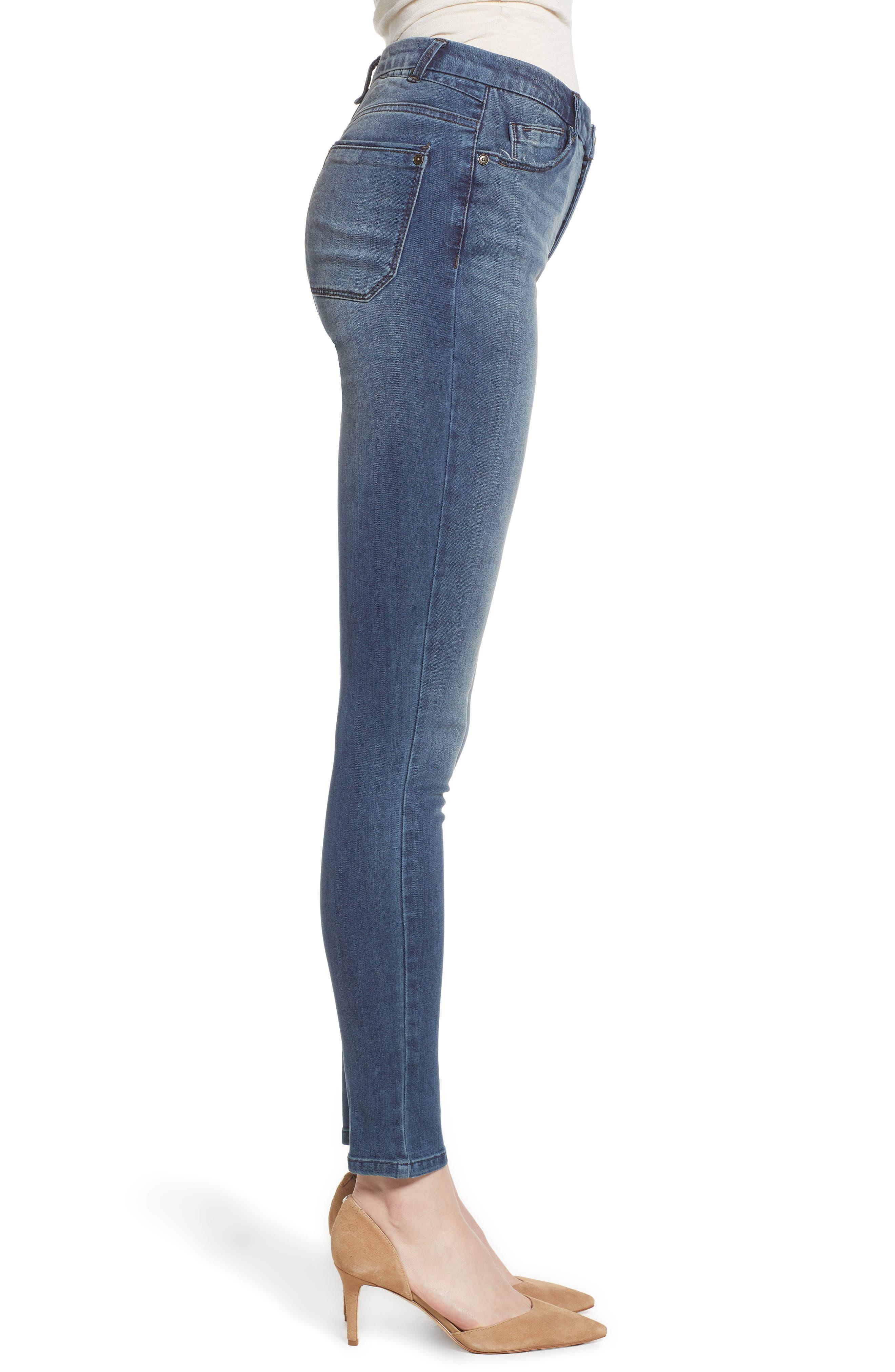 Ab-Solution High Waist Skinny Jeans,                             Alternate thumbnail 3, color,                             420