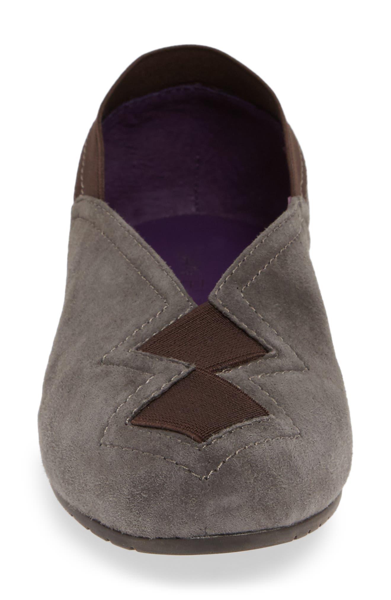 Pandy Hidden Wedge Shoe,                             Alternate thumbnail 4, color,                             MOUSSE SUEDE