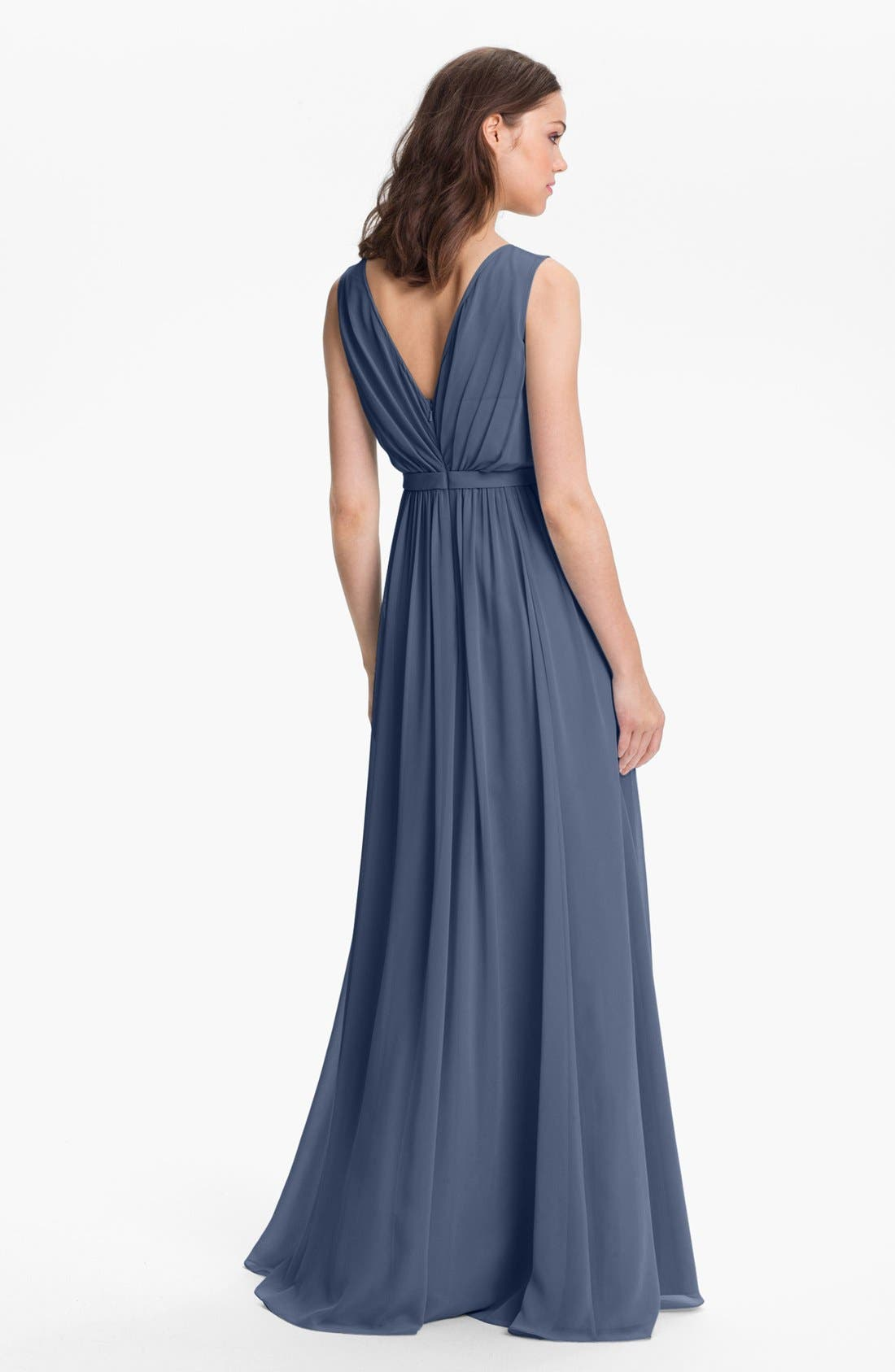 Vivienne Pleated Chiffon Gown,                             Alternate thumbnail 33, color,
