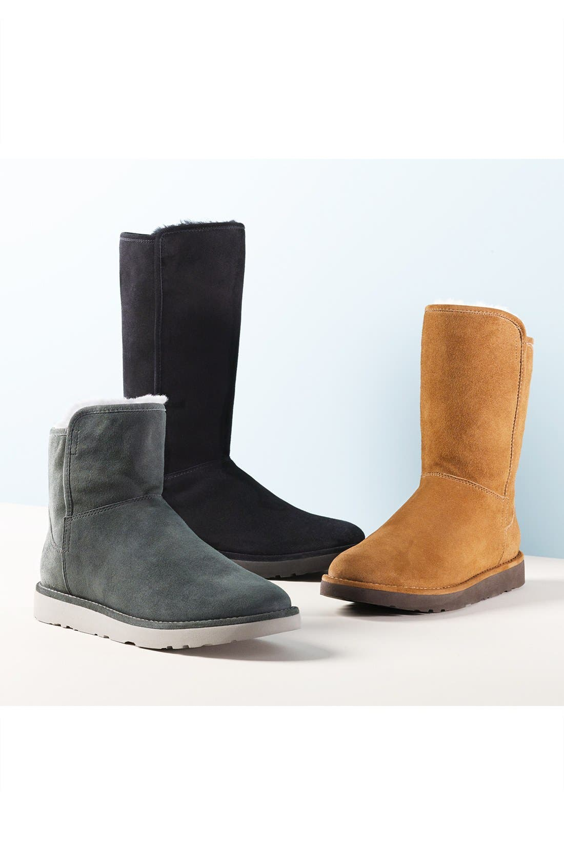 Abree II Short Boot,                             Alternate thumbnail 5, color,                             NERO SUEDE