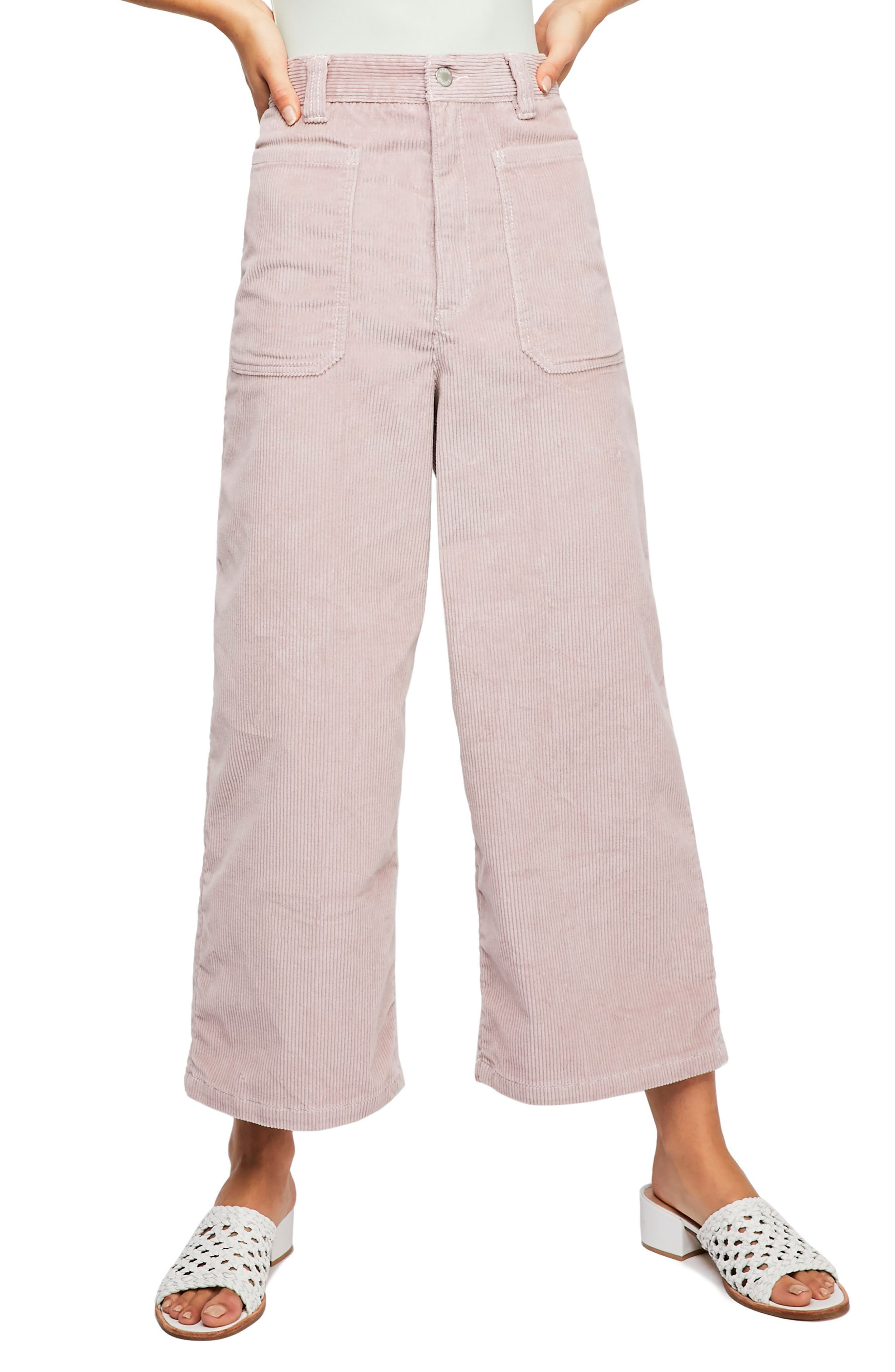 Dawn to Dusk Crop Corduroy Pants,                             Main thumbnail 1, color,                             ROSE