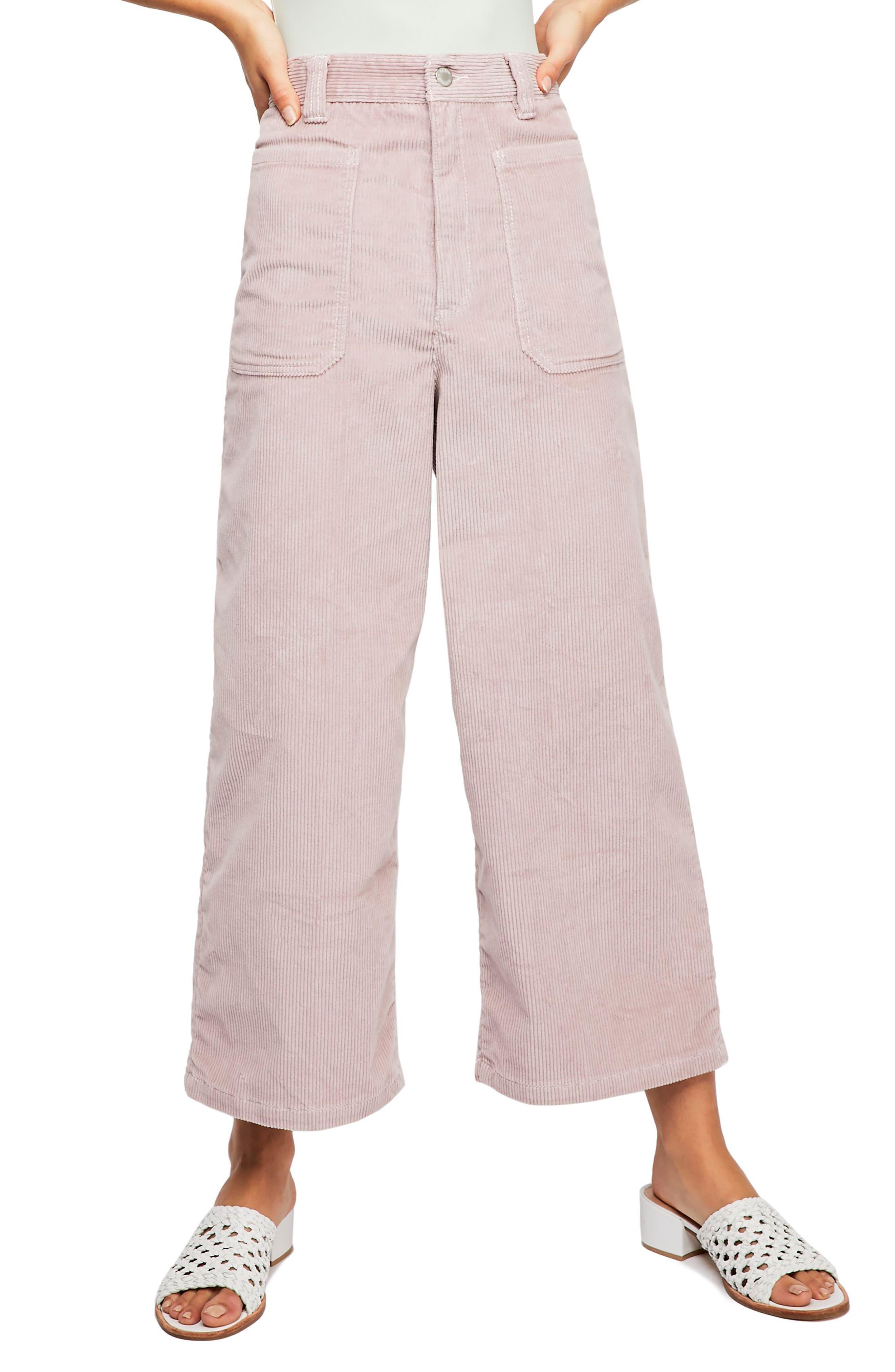 Dawn to Dusk Crop Corduroy Pants,                         Main,                         color, ROSE