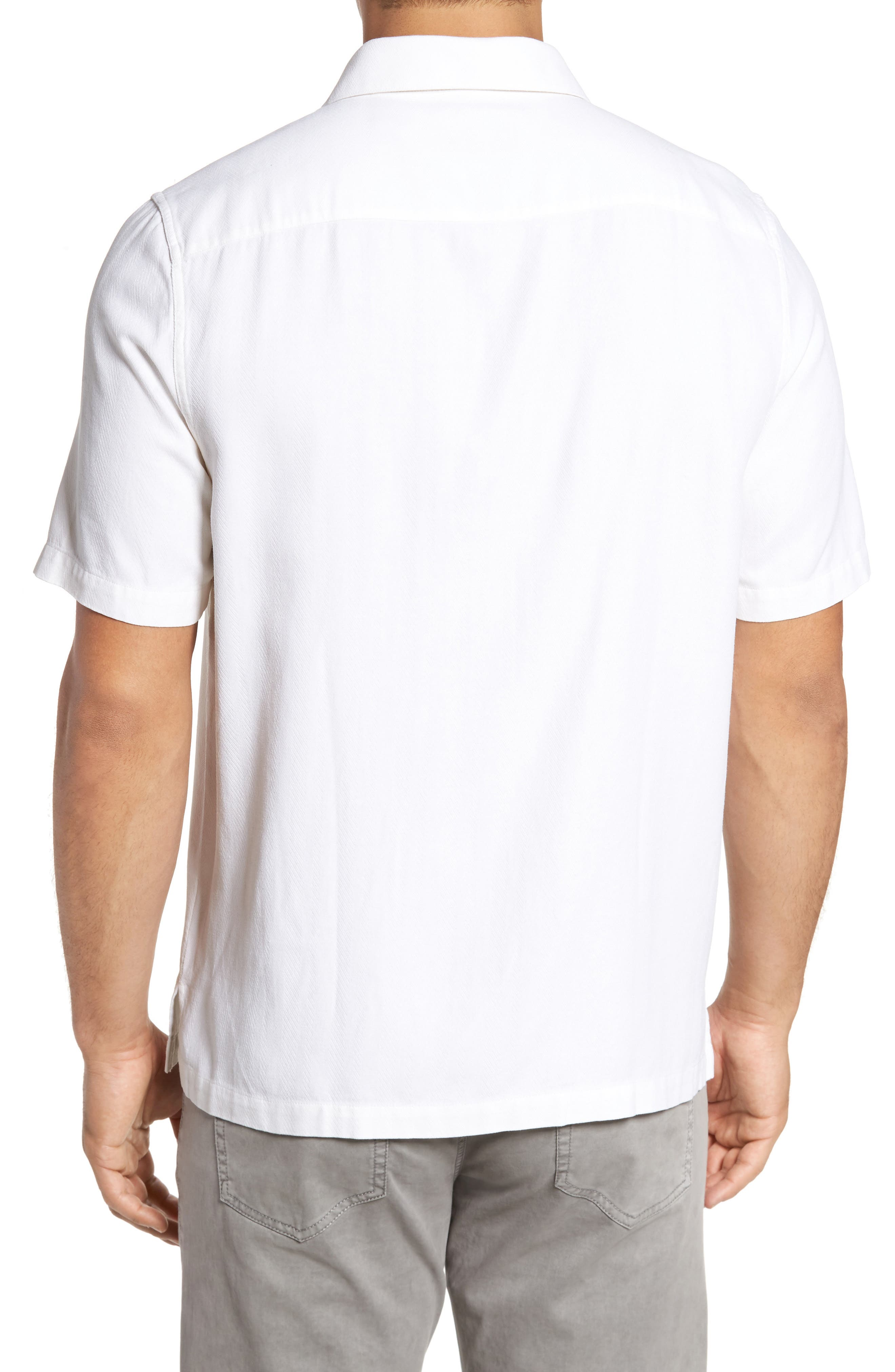 With a Twist Silk Blend Camp Shirt,                             Alternate thumbnail 6, color,