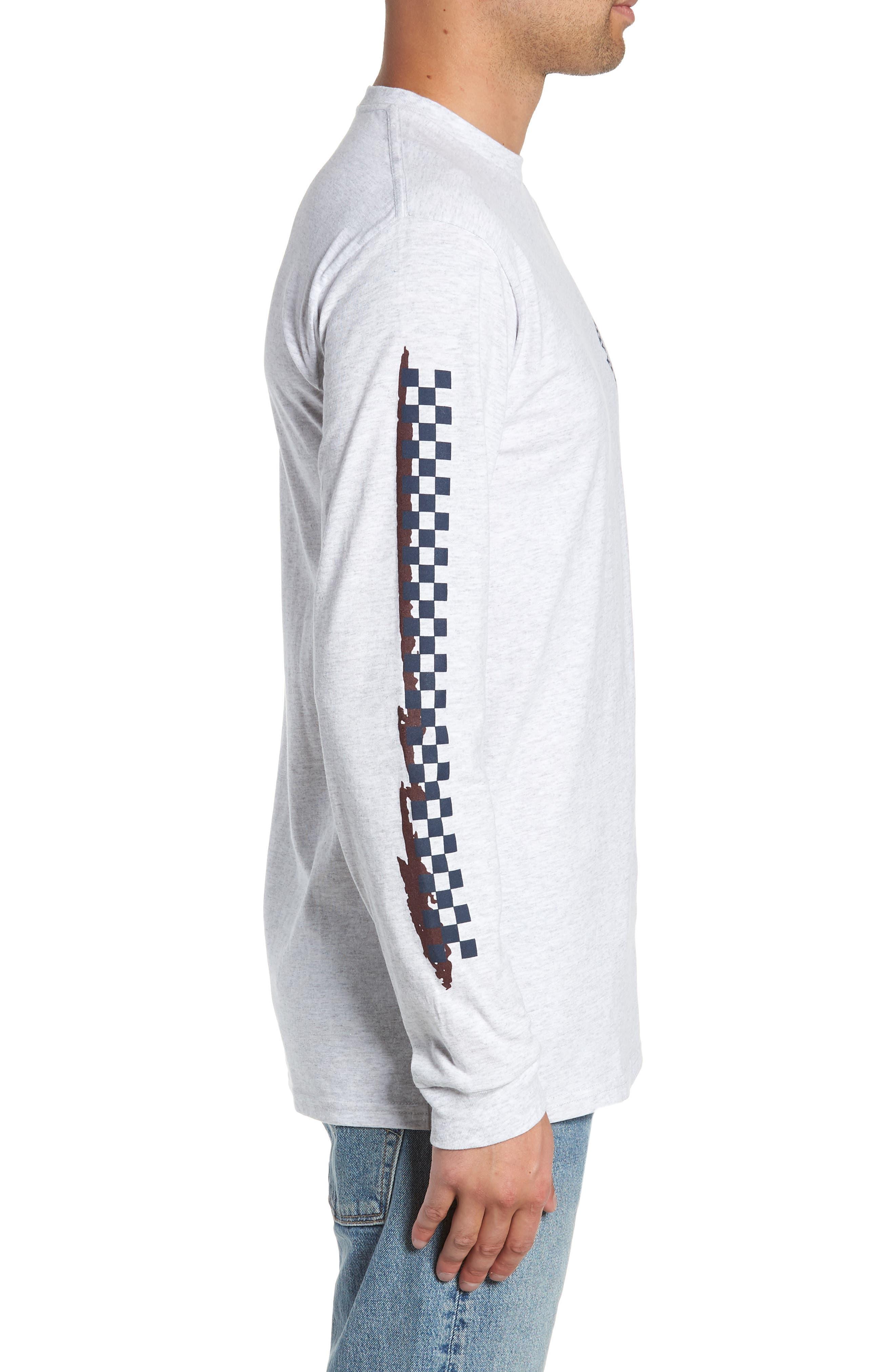 Check It Long Sleeve T-Shirt,                             Alternate thumbnail 3, color,                             ASH HEATHER