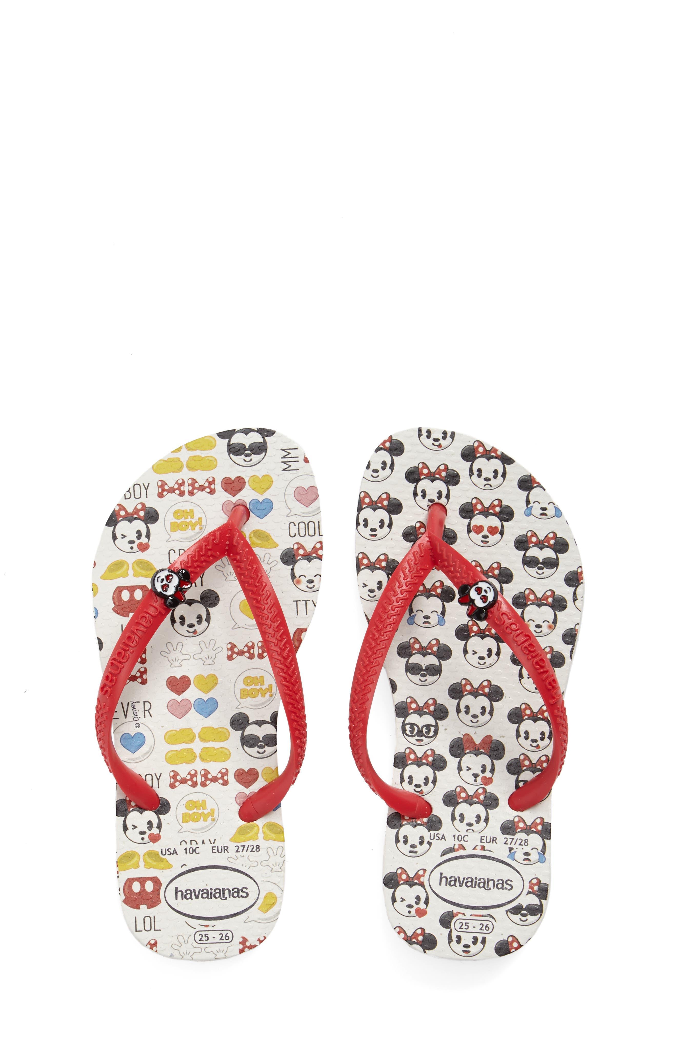'Disney<sup>®</sup> Minnie Mouse' Flip Flop,                             Alternate thumbnail 14, color,