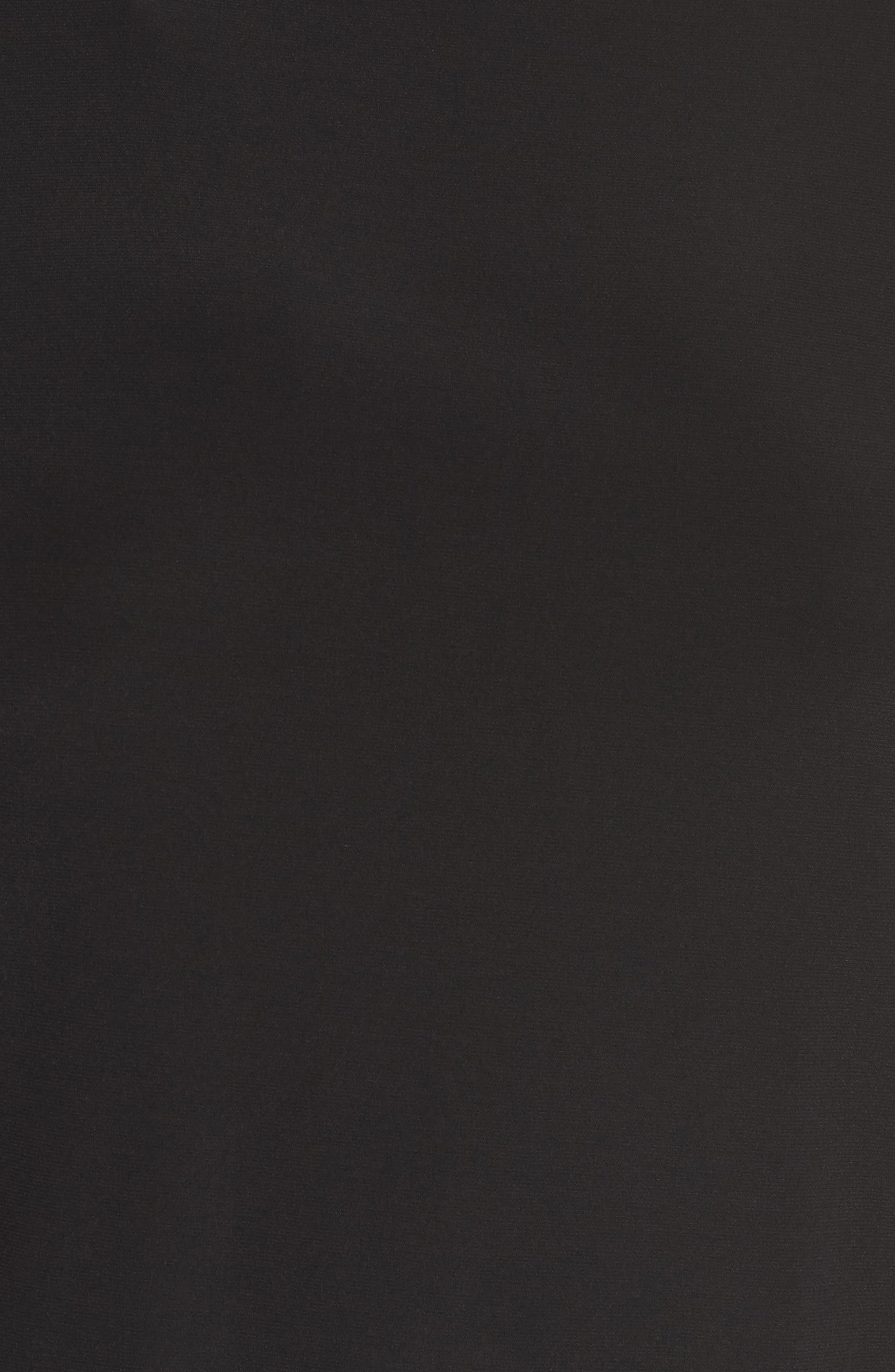 Embellished Cuff Blouson Jersey Dress,                             Alternate thumbnail 7, color,                             BLACK