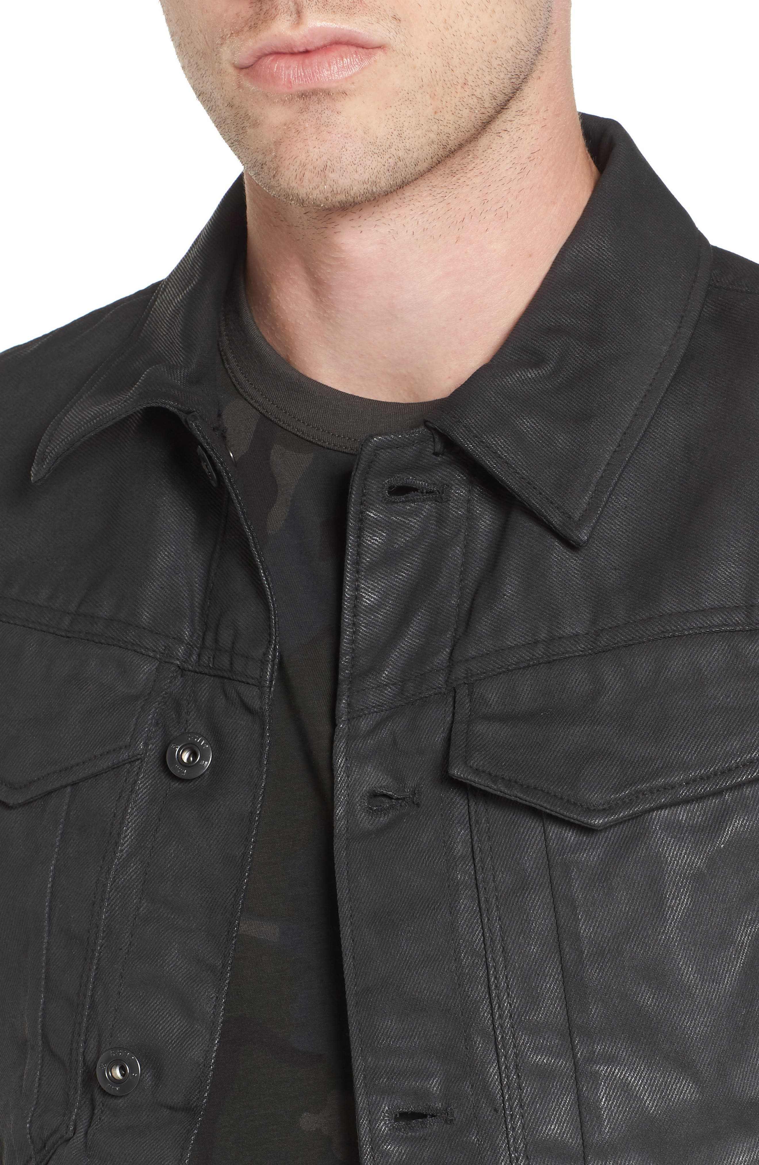 Motac 3D Slim Denim Jacket,                             Alternate thumbnail 4, color,                             001