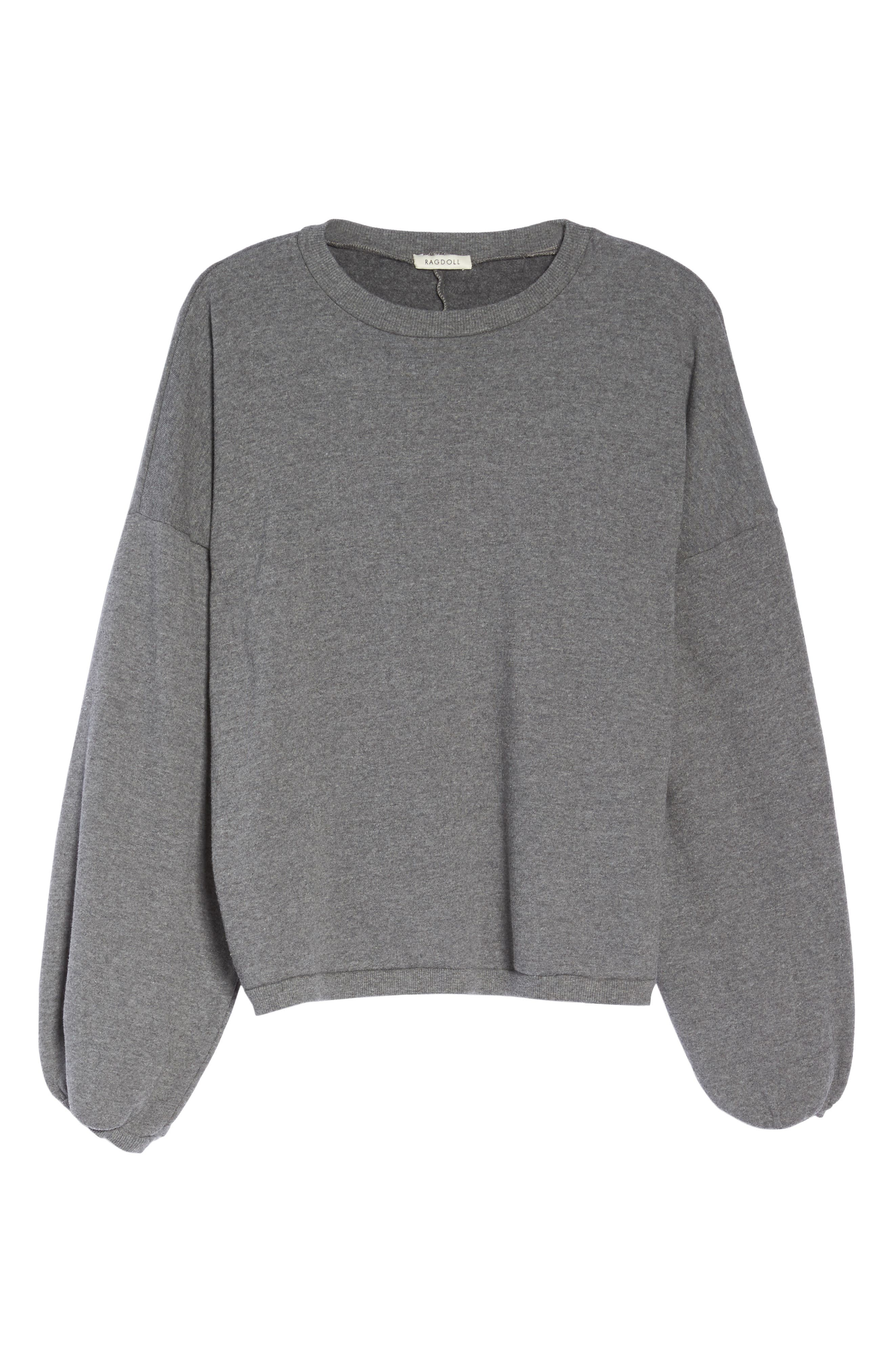 Puff Sleeve Sweatshirt,                             Alternate thumbnail 6, color,                             020