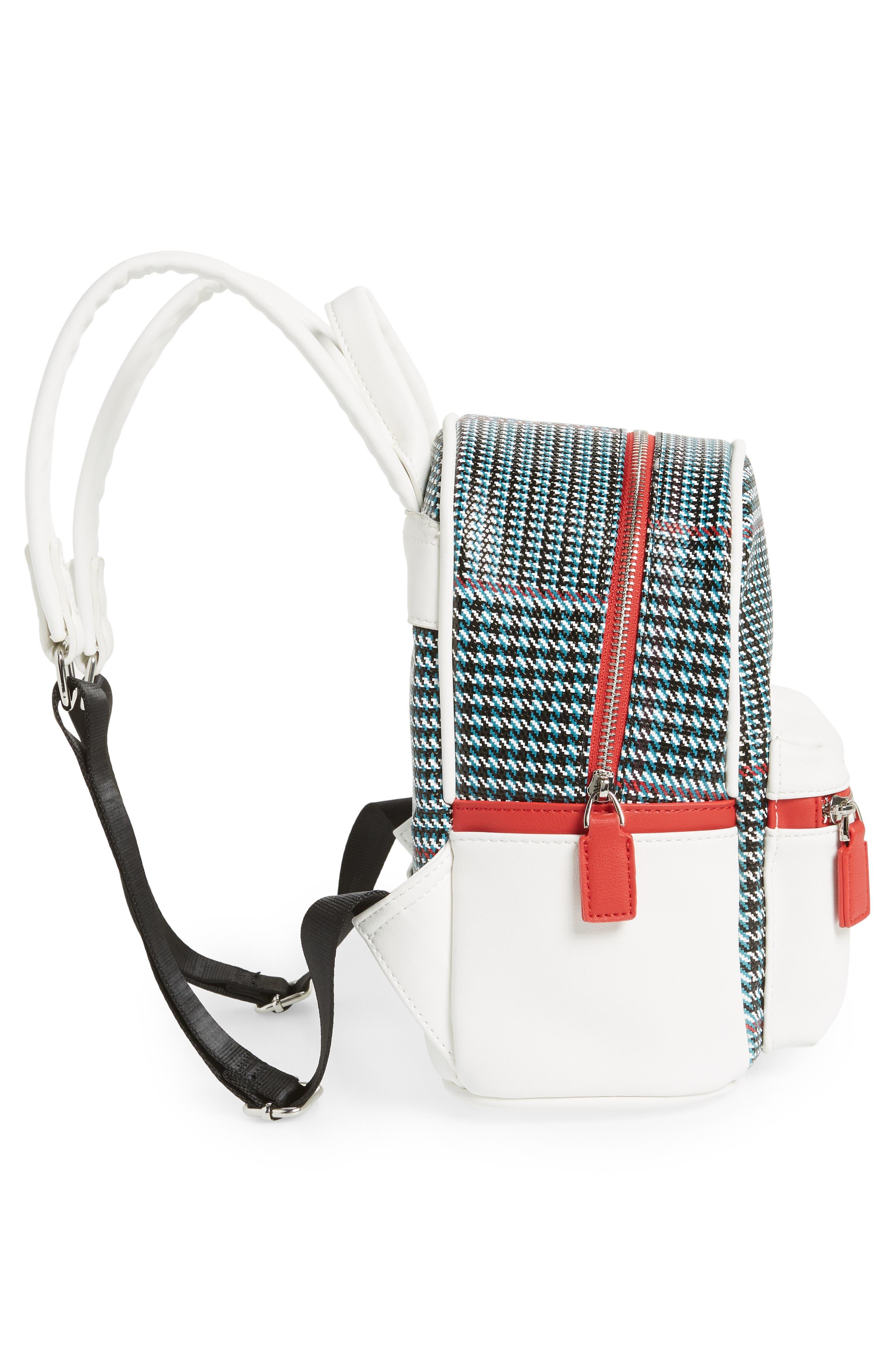 Woven Mini Backpack,                             Alternate thumbnail 5, color,                             BLUE MULTI