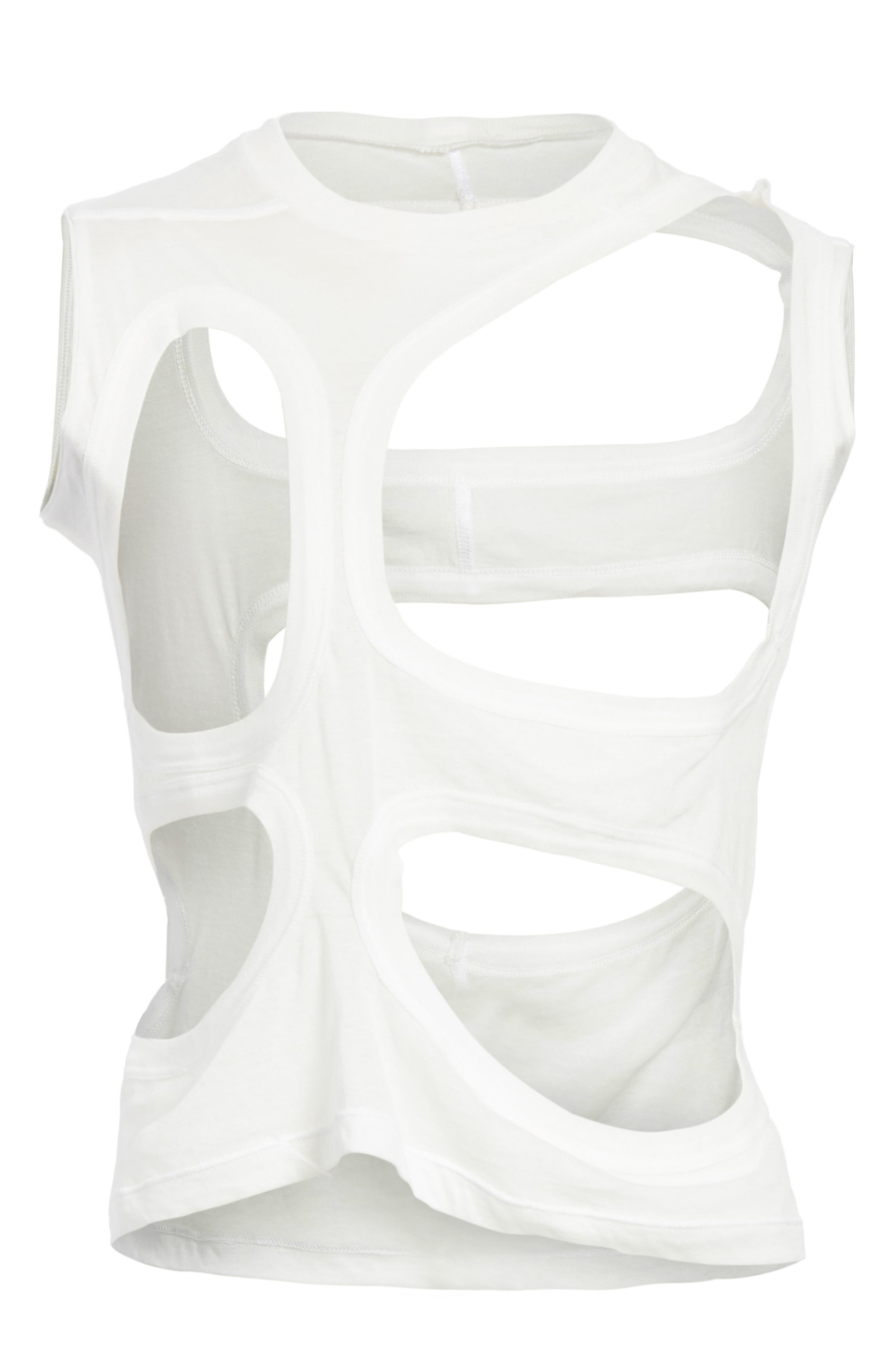 Membrane Cutout Tank Top,                             Alternate thumbnail 6, color,                             110