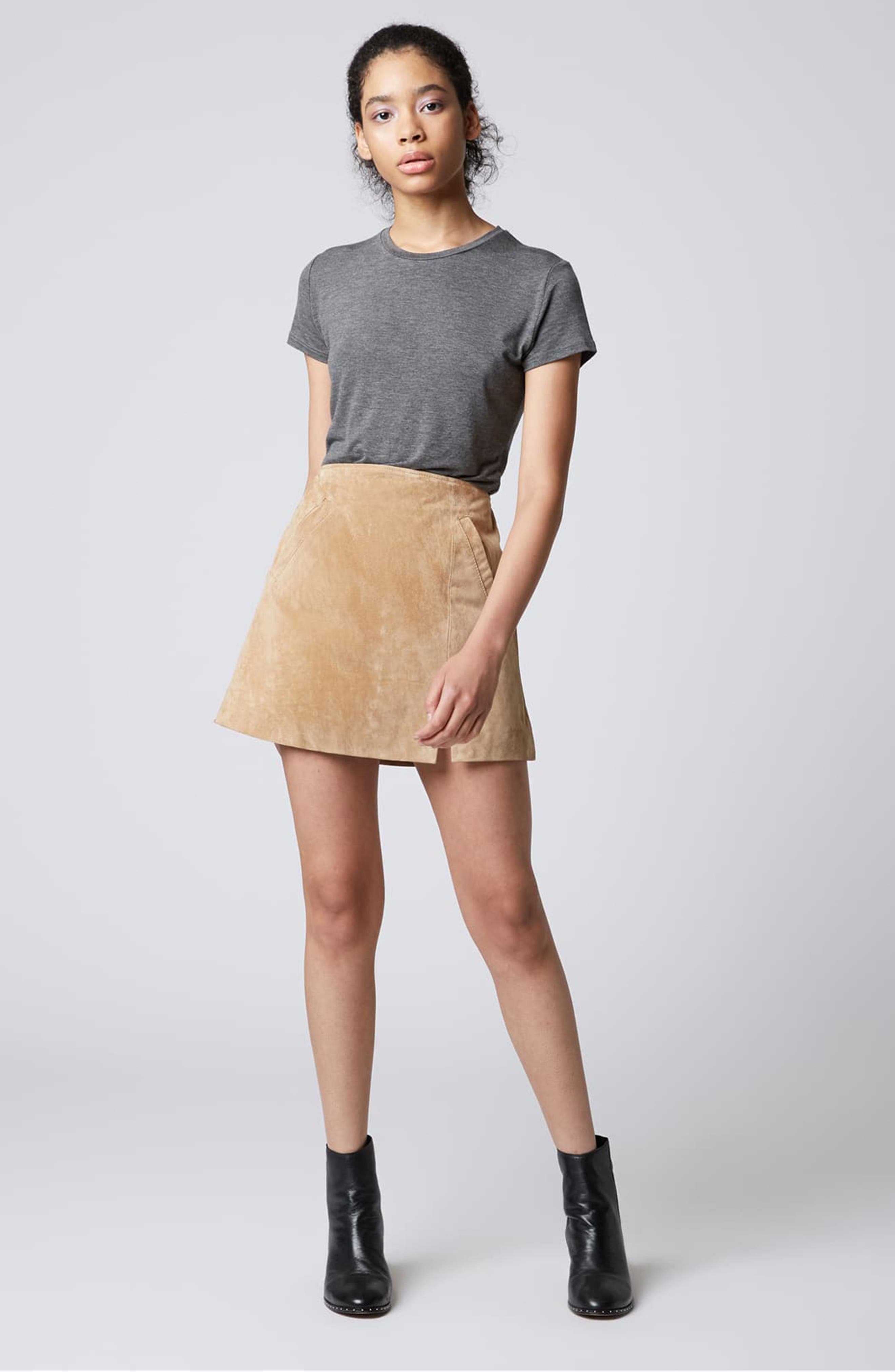 Suede Miniskirt,                             Alternate thumbnail 24, color,