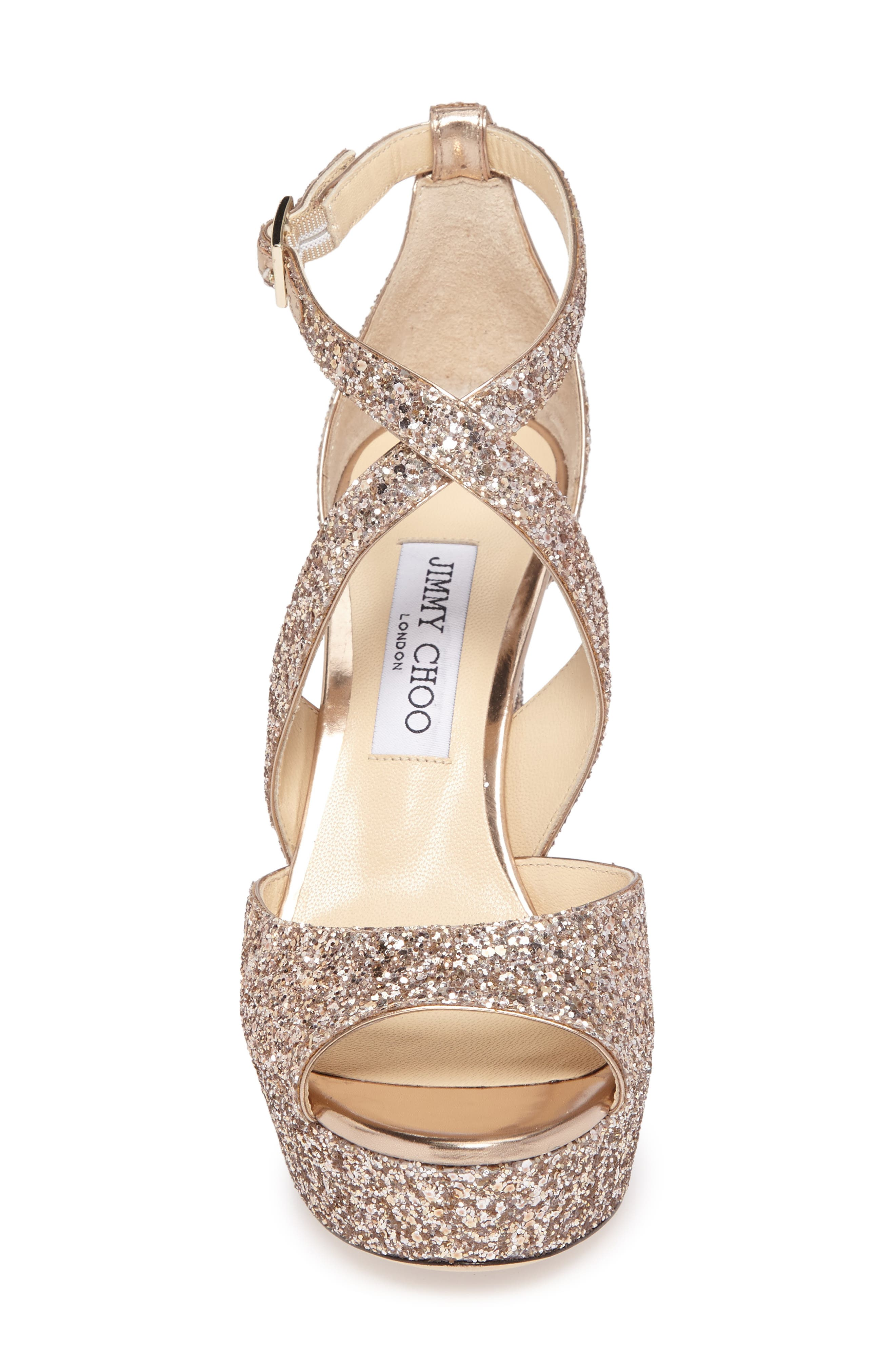 April Glitter Platform Sandal,                             Alternate thumbnail 4, color,                             650