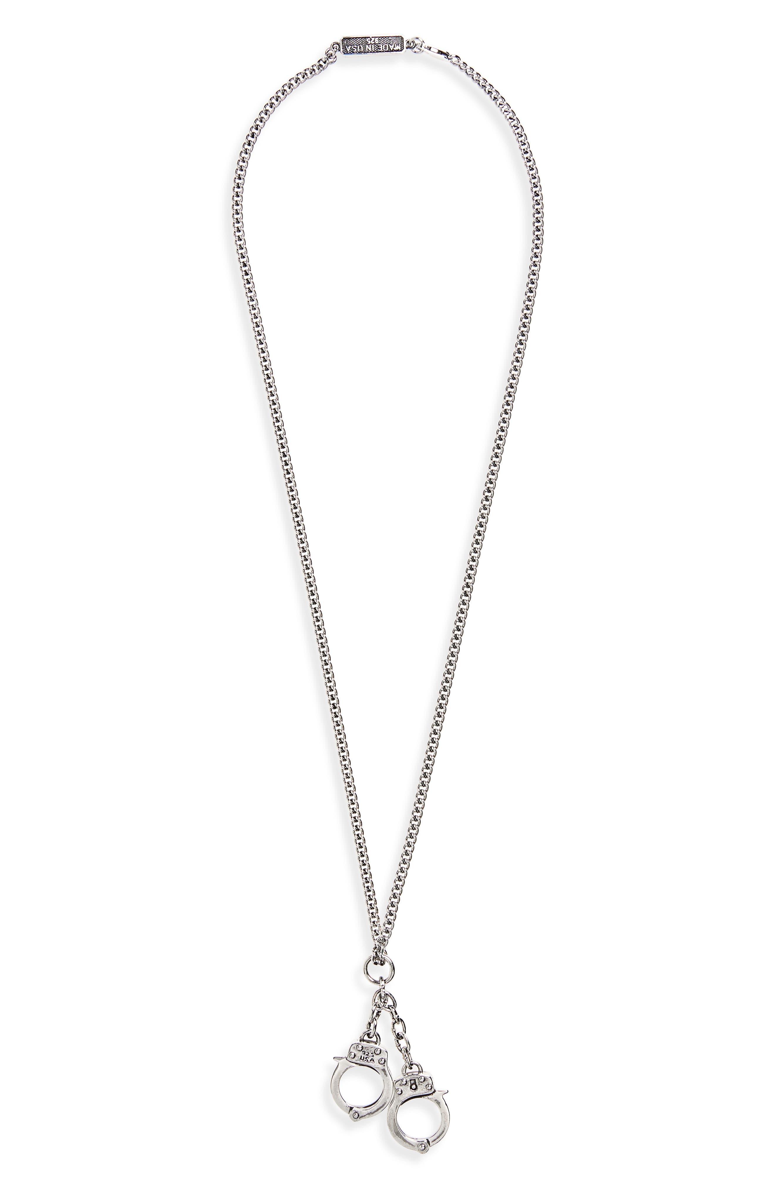 Handcuff Pendant Necklace,                         Main,                         color,