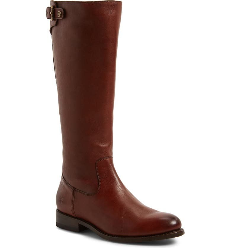 Jayden Buckle Back Zip Boot,                         Main,                         color, REDWOOD