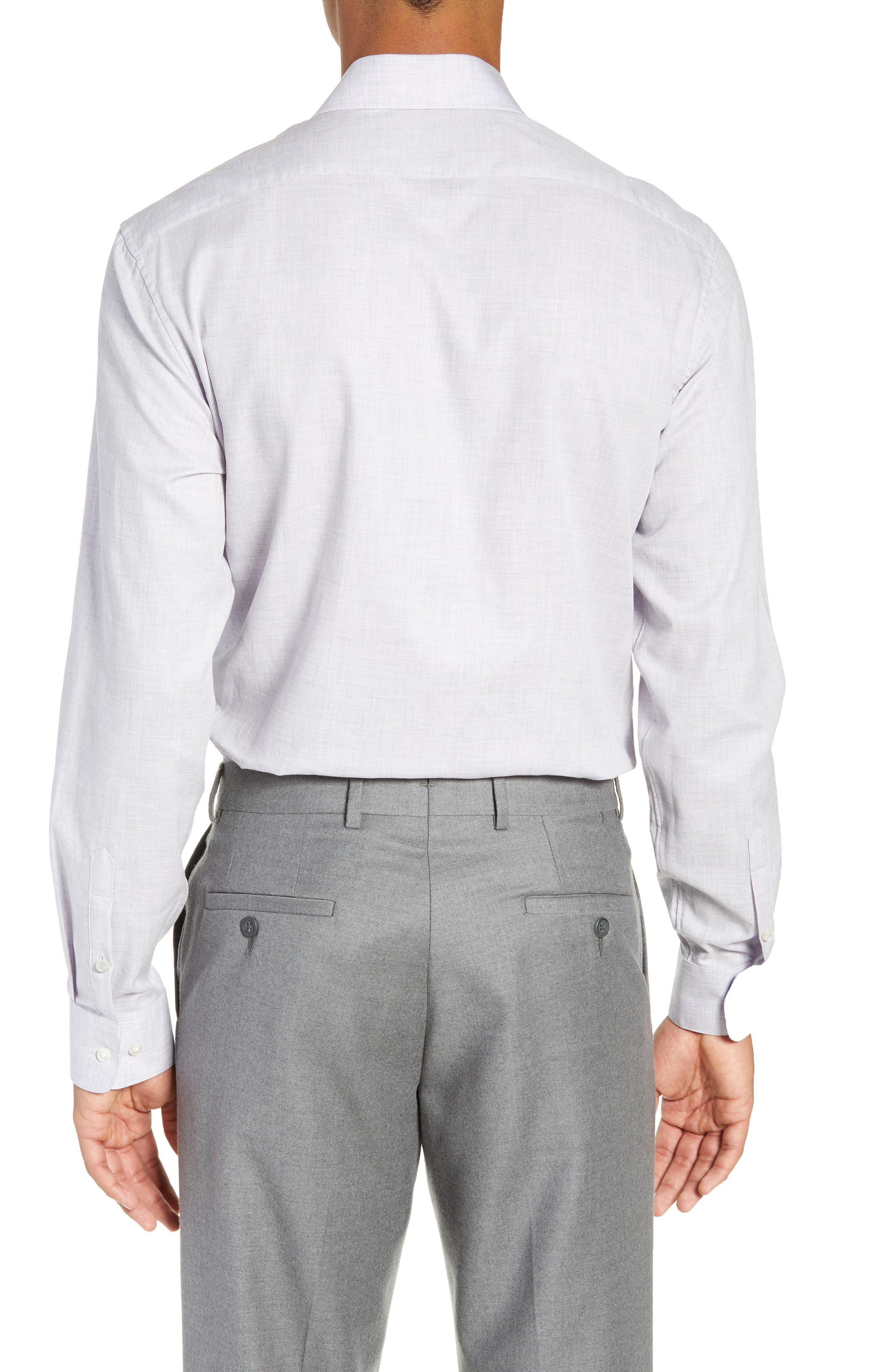 Regular Fit Solid Dress Shirt,                             Alternate thumbnail 3, color,                             HYDRANGEA