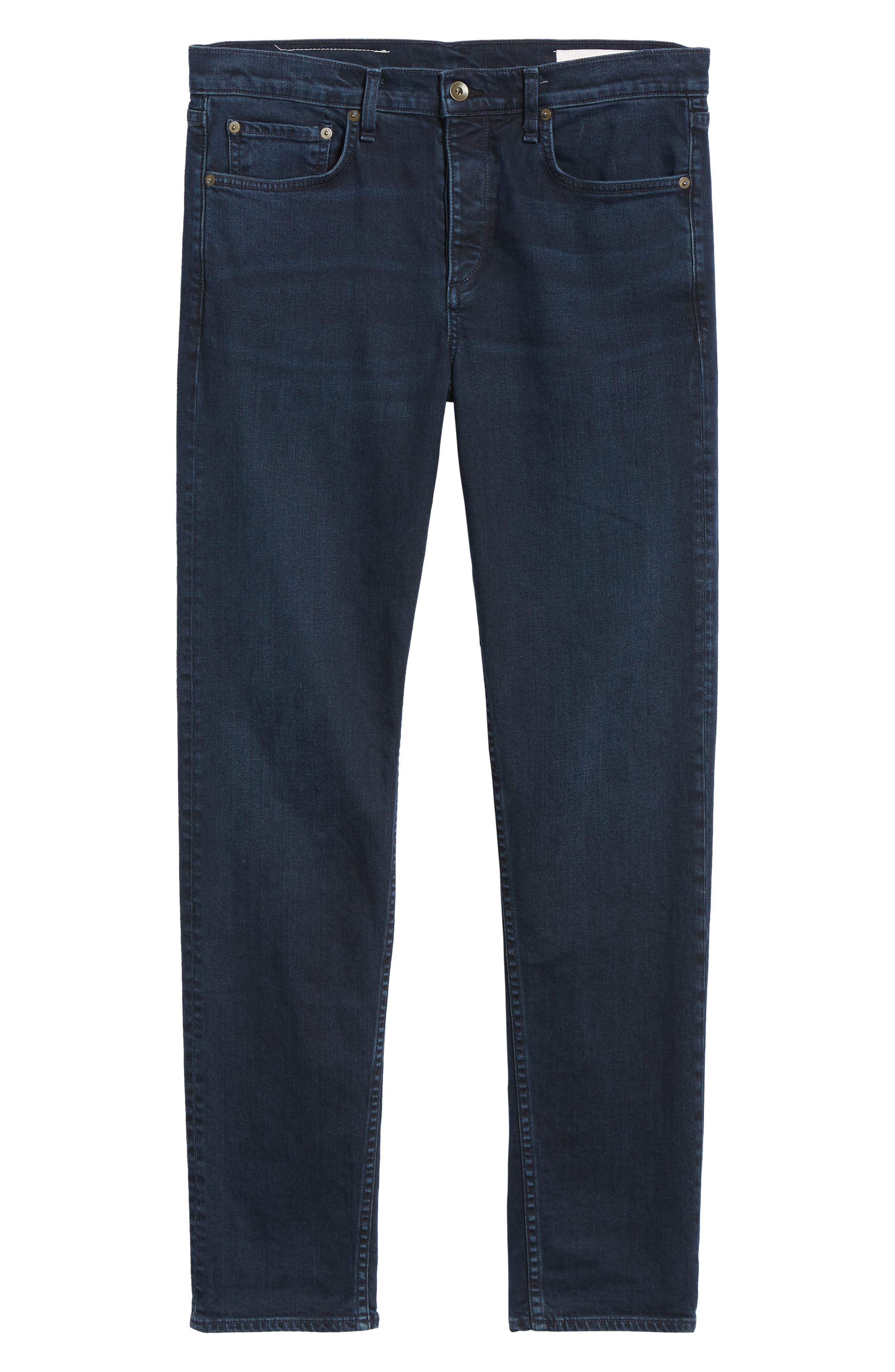Fit 3 Slim Straight Leg Jeans,                             Alternate thumbnail 6, color,                             BAYVIEW