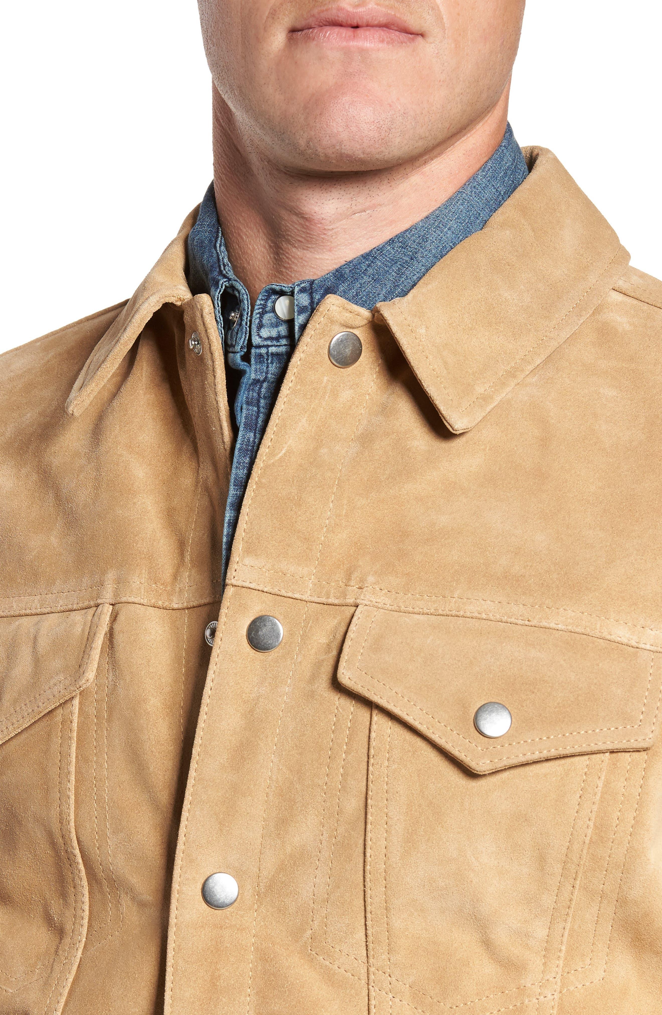 Suede Shirt Jacket,                             Alternate thumbnail 4, color,                             230
