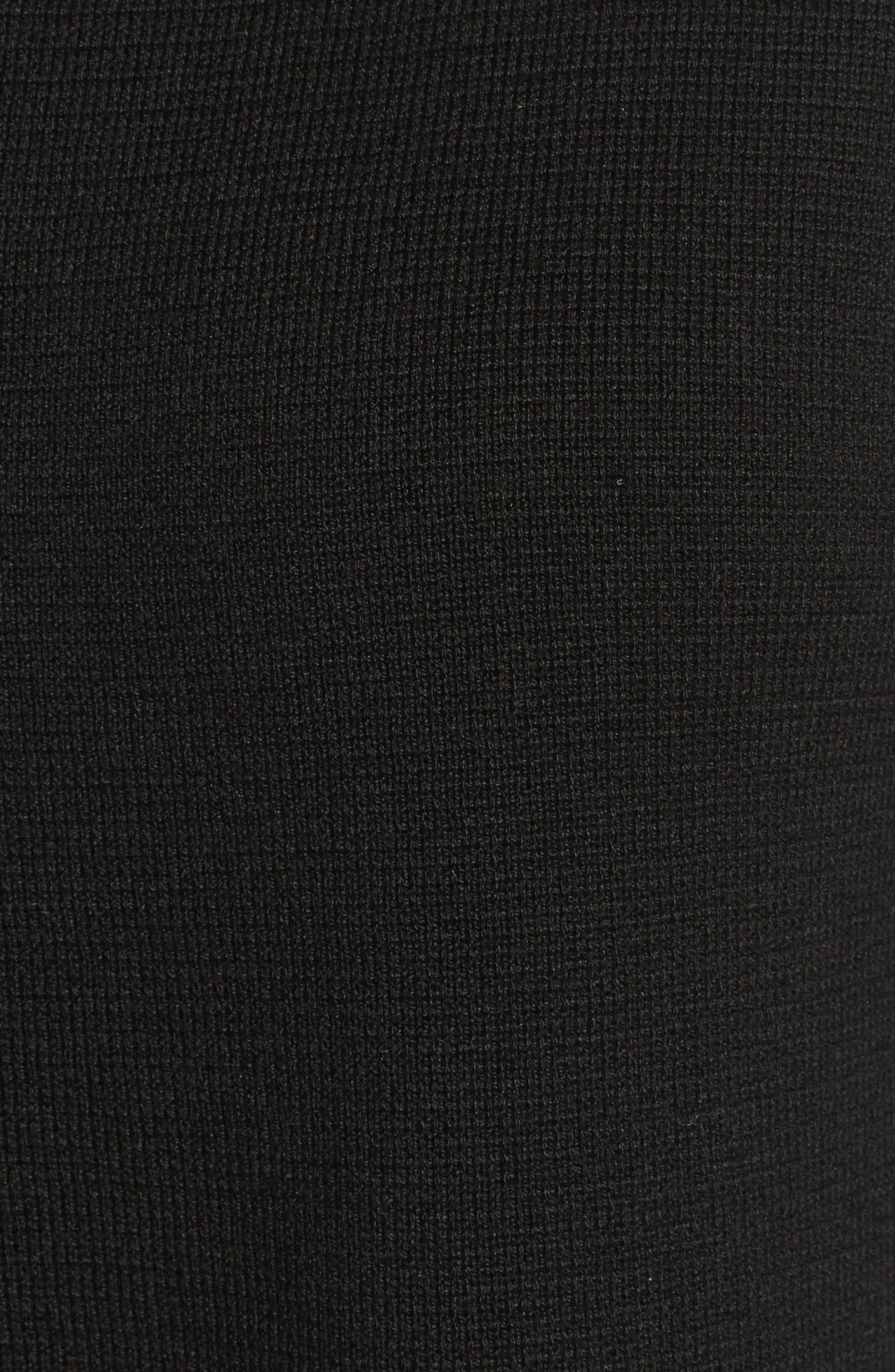 Silk & Organic Cotton Interlock Knit Funnel Neck Jacket,                             Alternate thumbnail 6, color,                             001