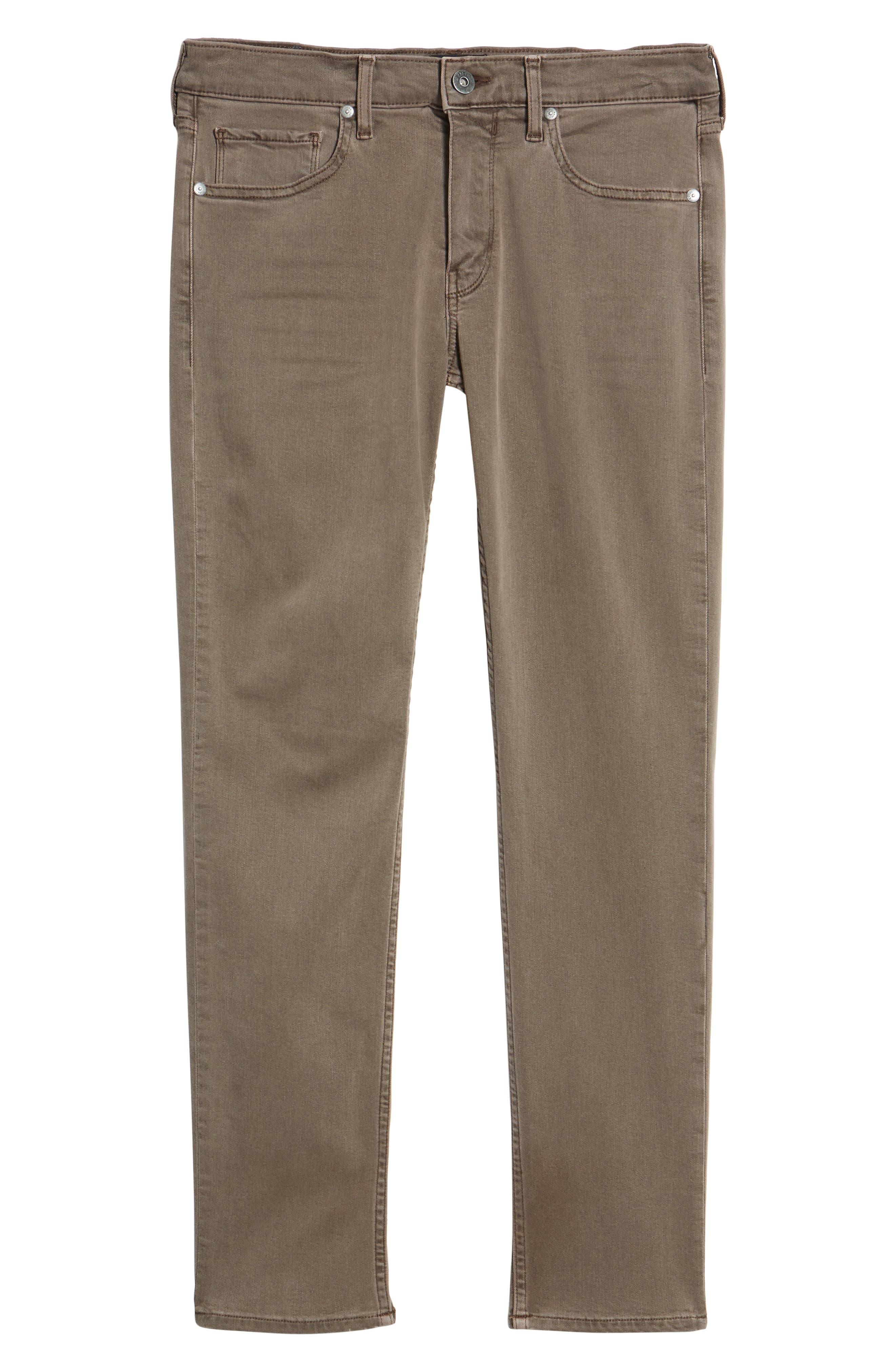 Transcend - Lennox Slim Fit Jeans,                             Alternate thumbnail 6, color,                             VINTAGE SAND BAR