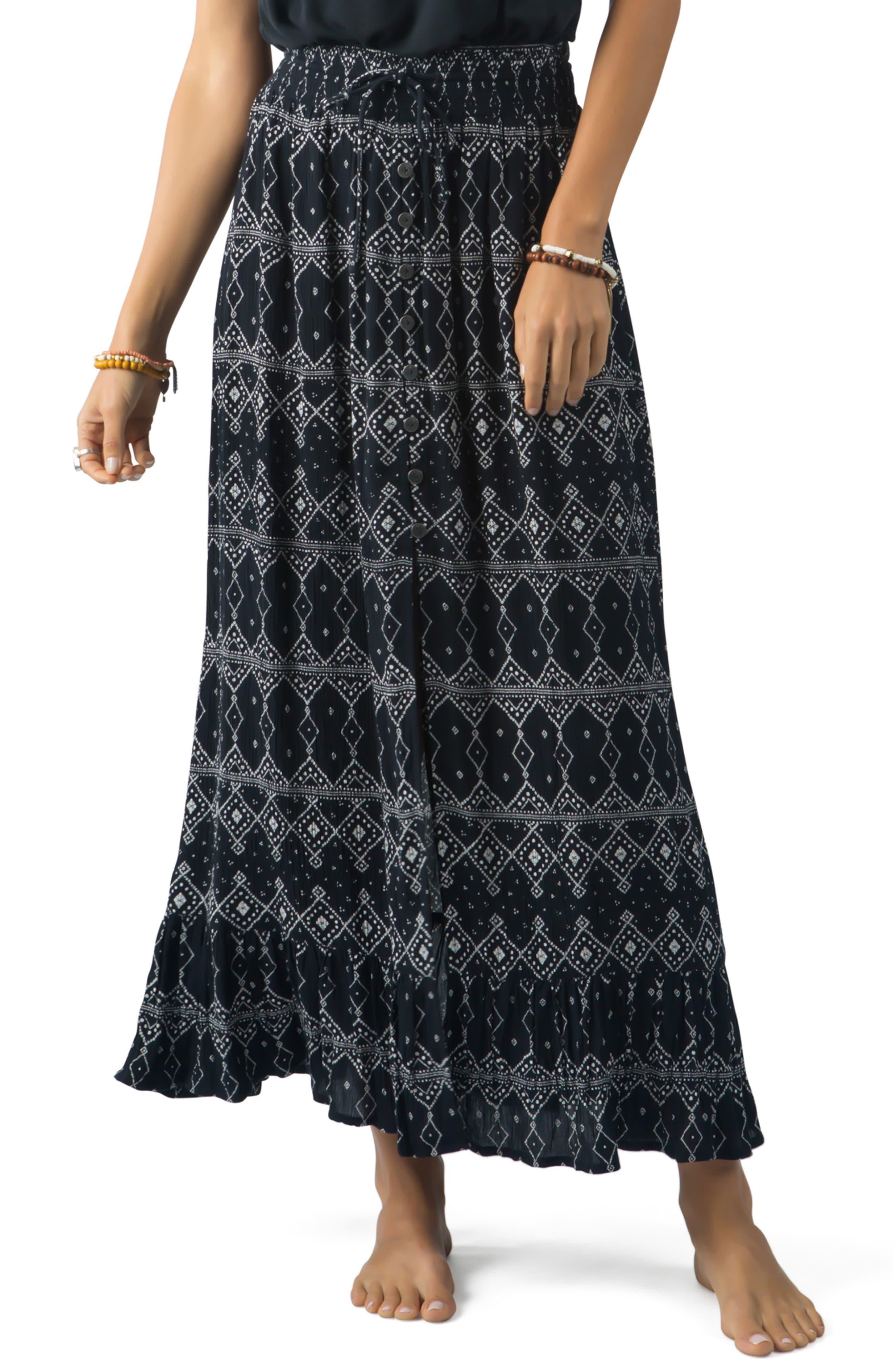 Rip Curl Sari Maxi Skirt, Black
