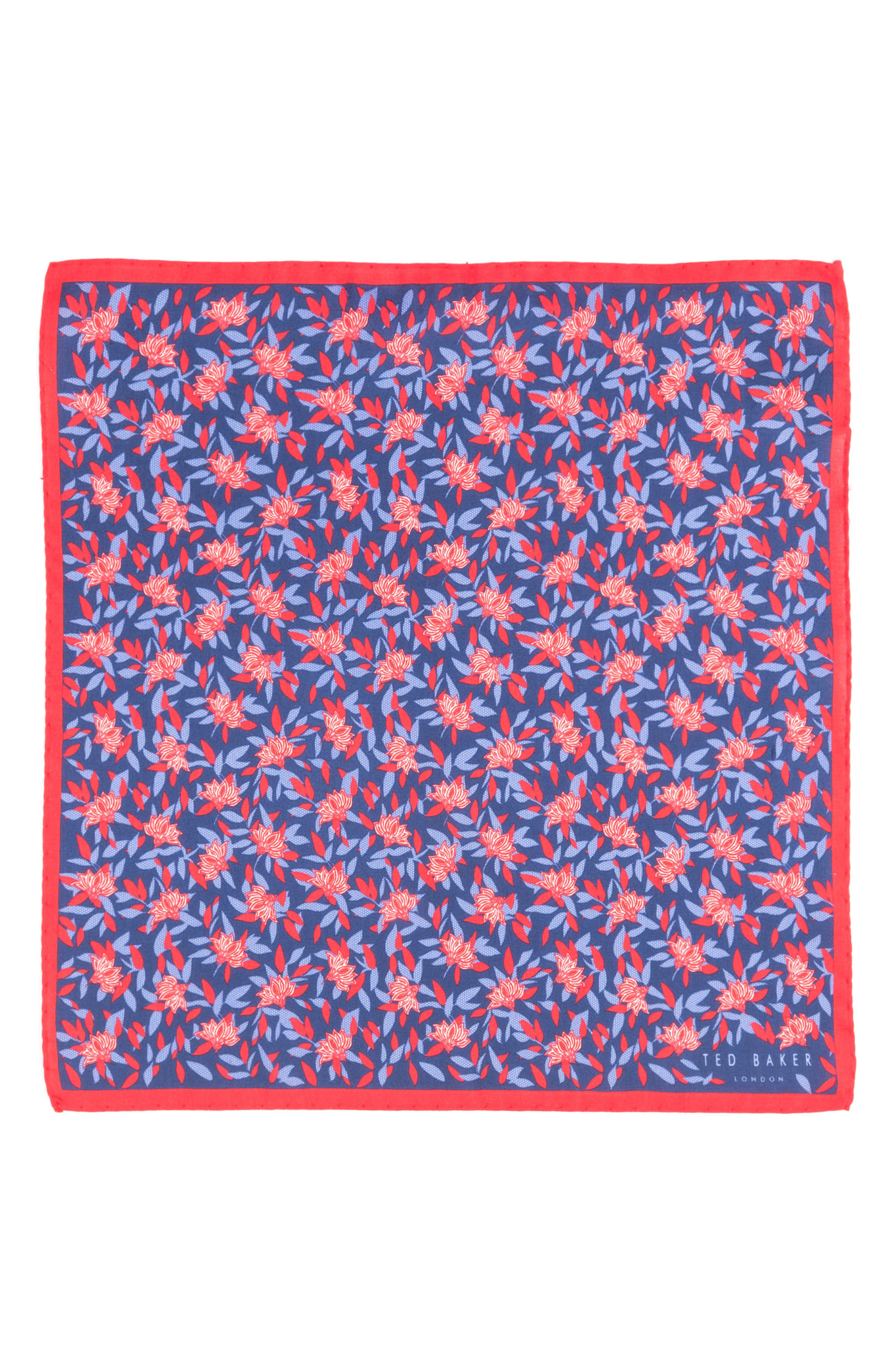 Botanical Silk Pocket Square,                             Alternate thumbnail 5, color,