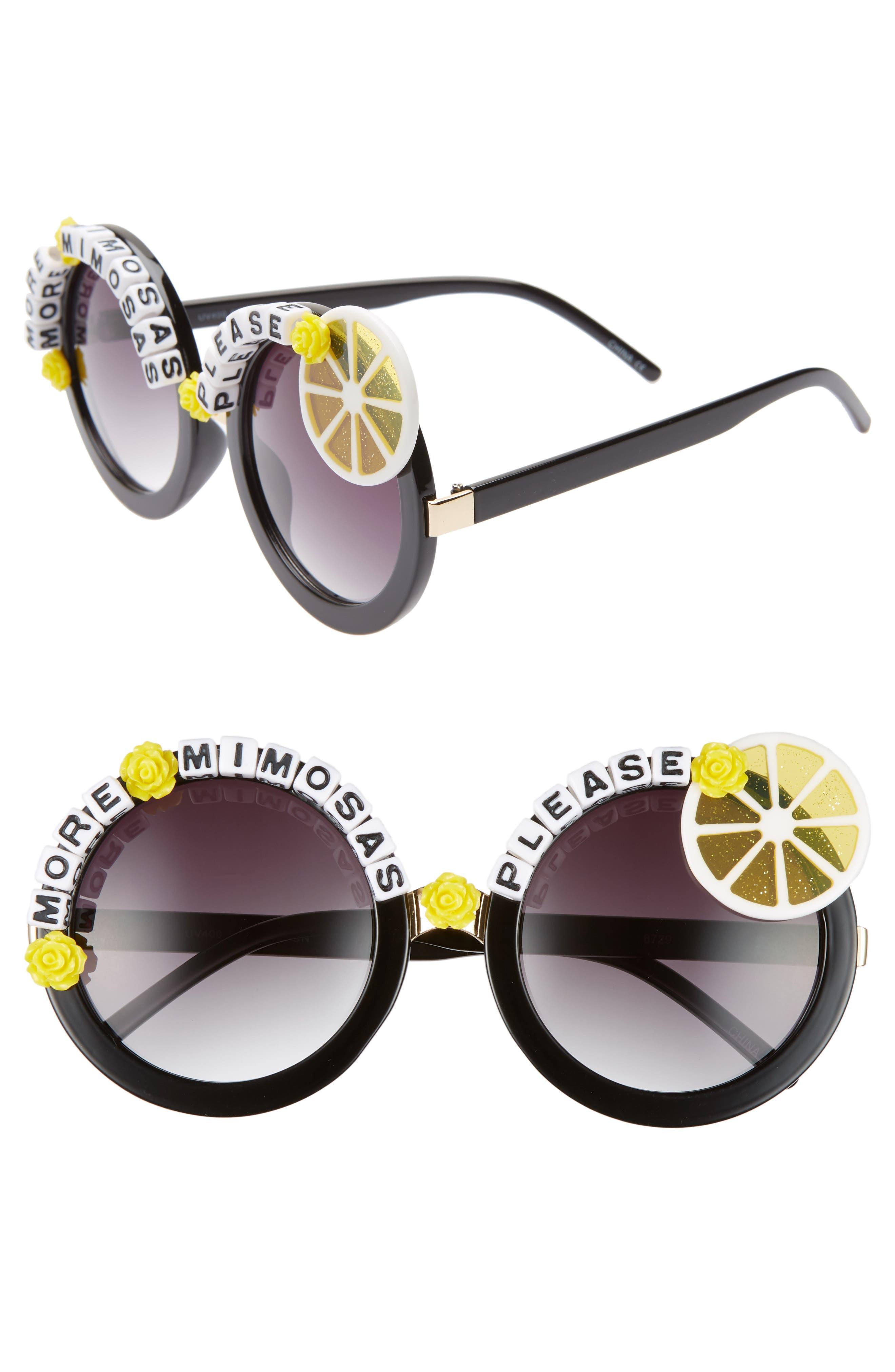 Rad + Refined More Mimosas Sunglasses - Black/ Yellow