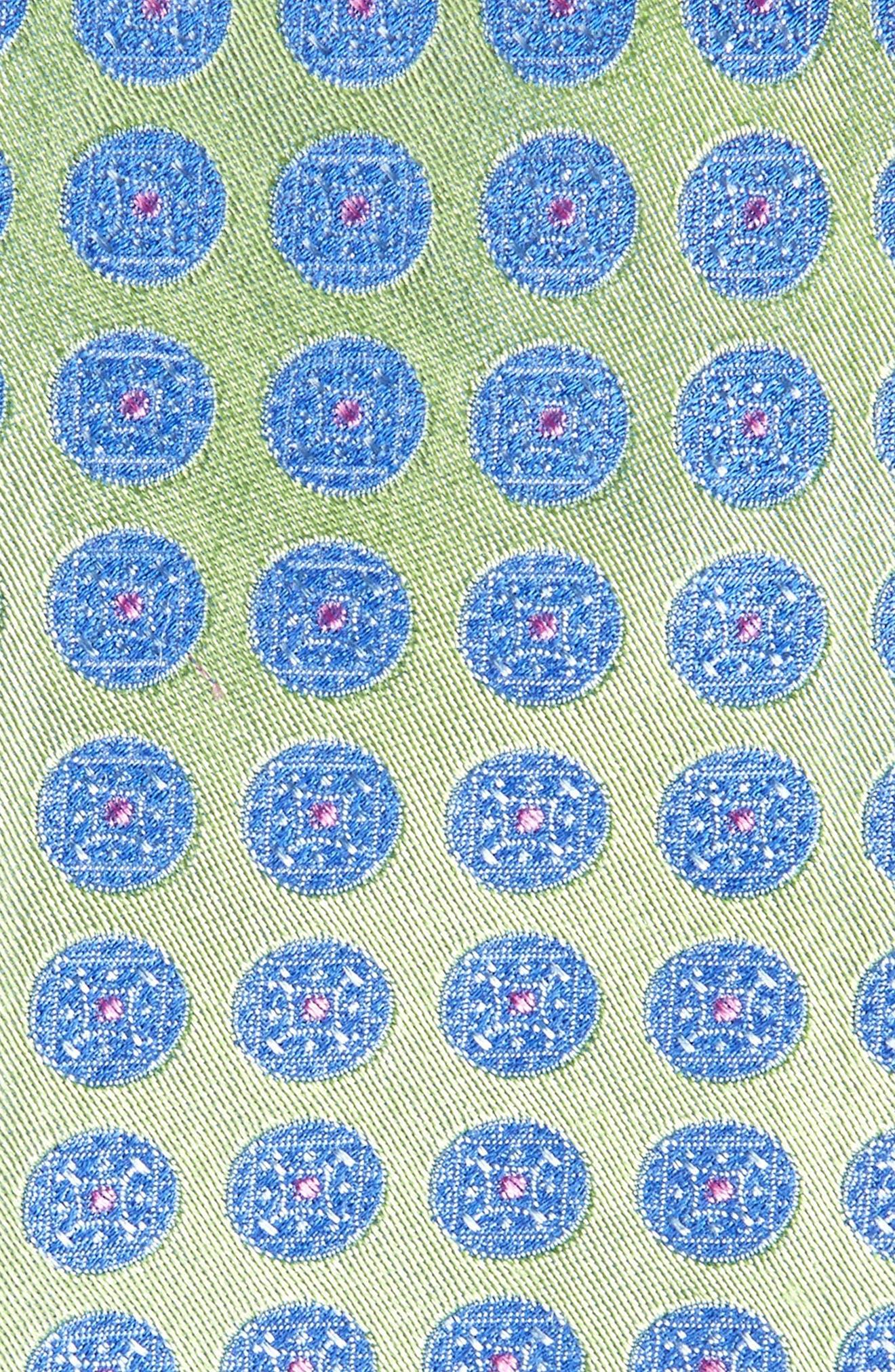 Carlos Medallion Silk Tie,                             Alternate thumbnail 2, color,                             333