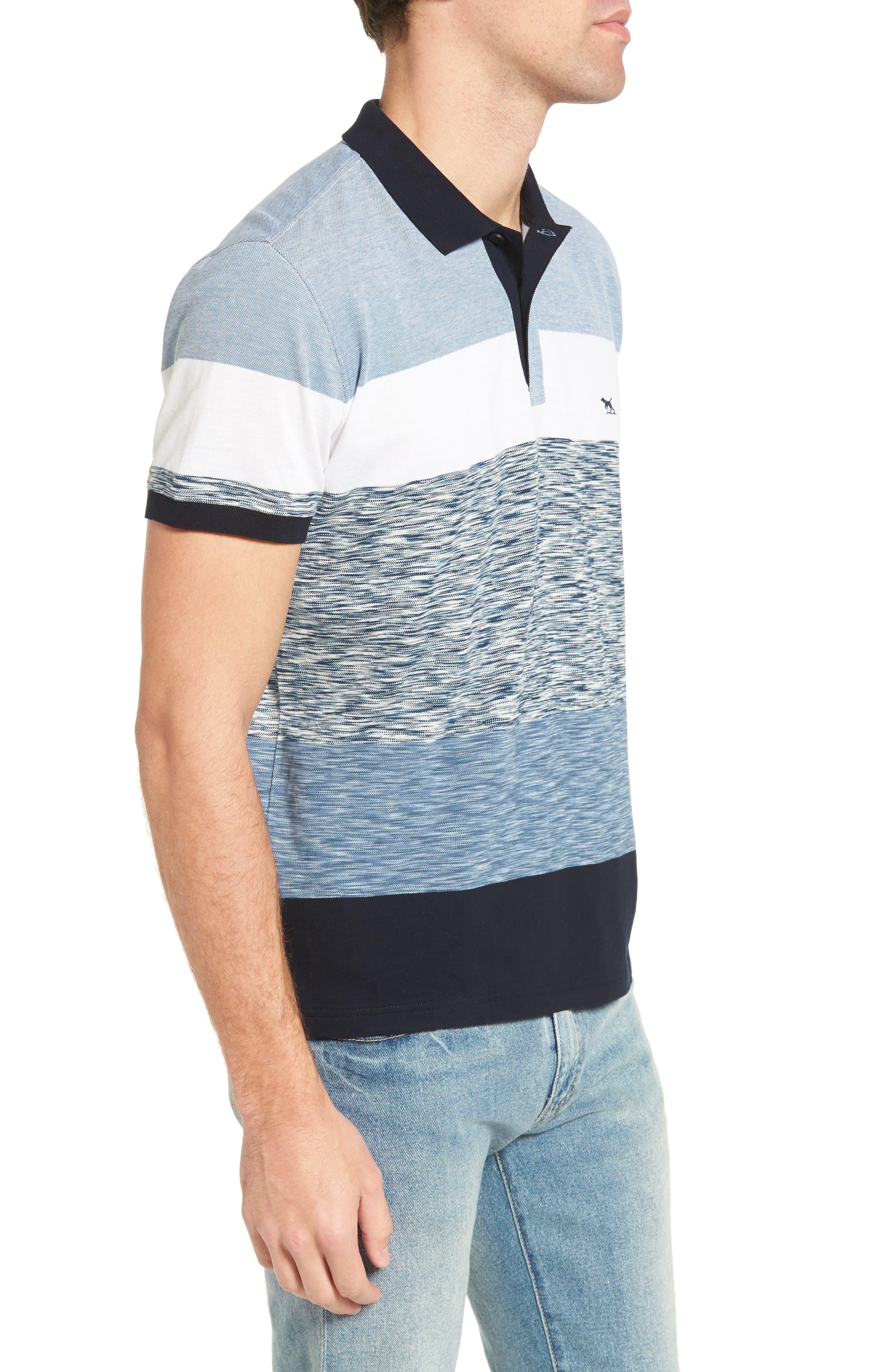 Castlepoint Sport Fit Stripe Polo,                             Alternate thumbnail 3, color,                             433