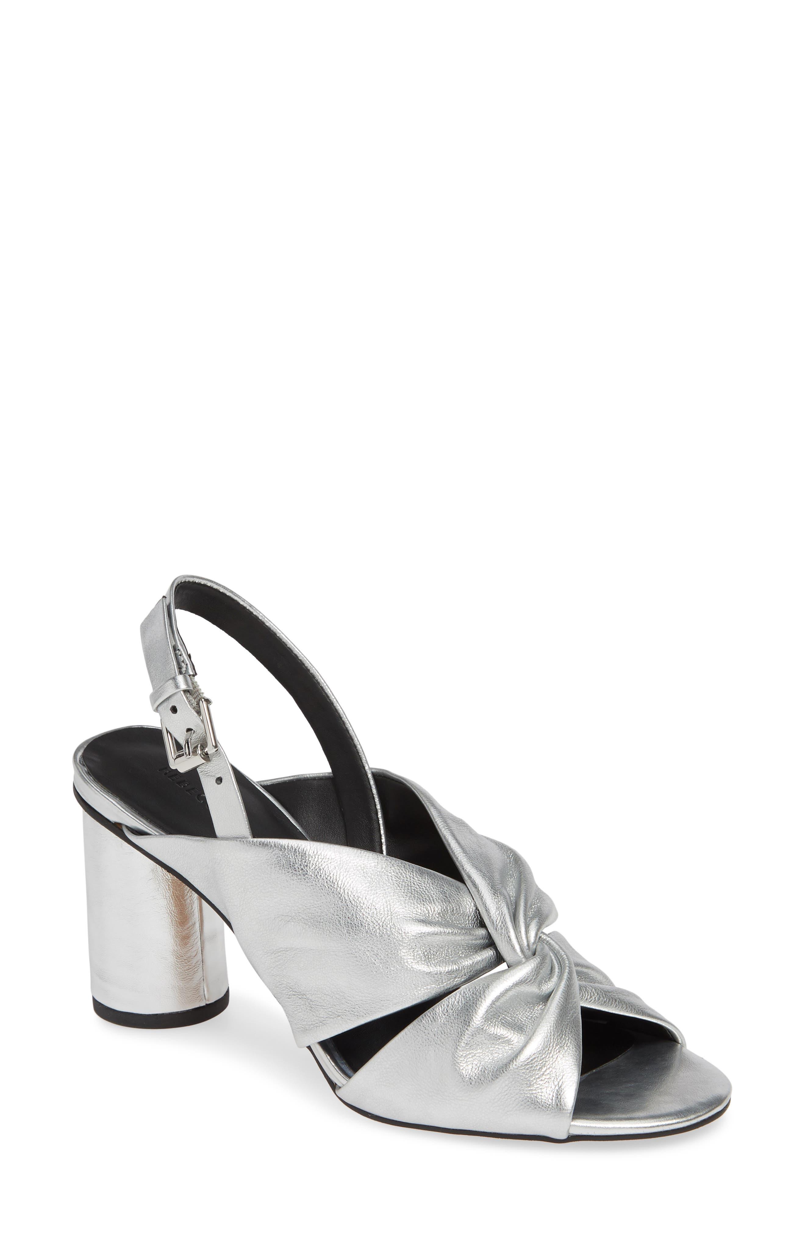Rebecca Minkoff Agata Slingback Sandal- Metallic