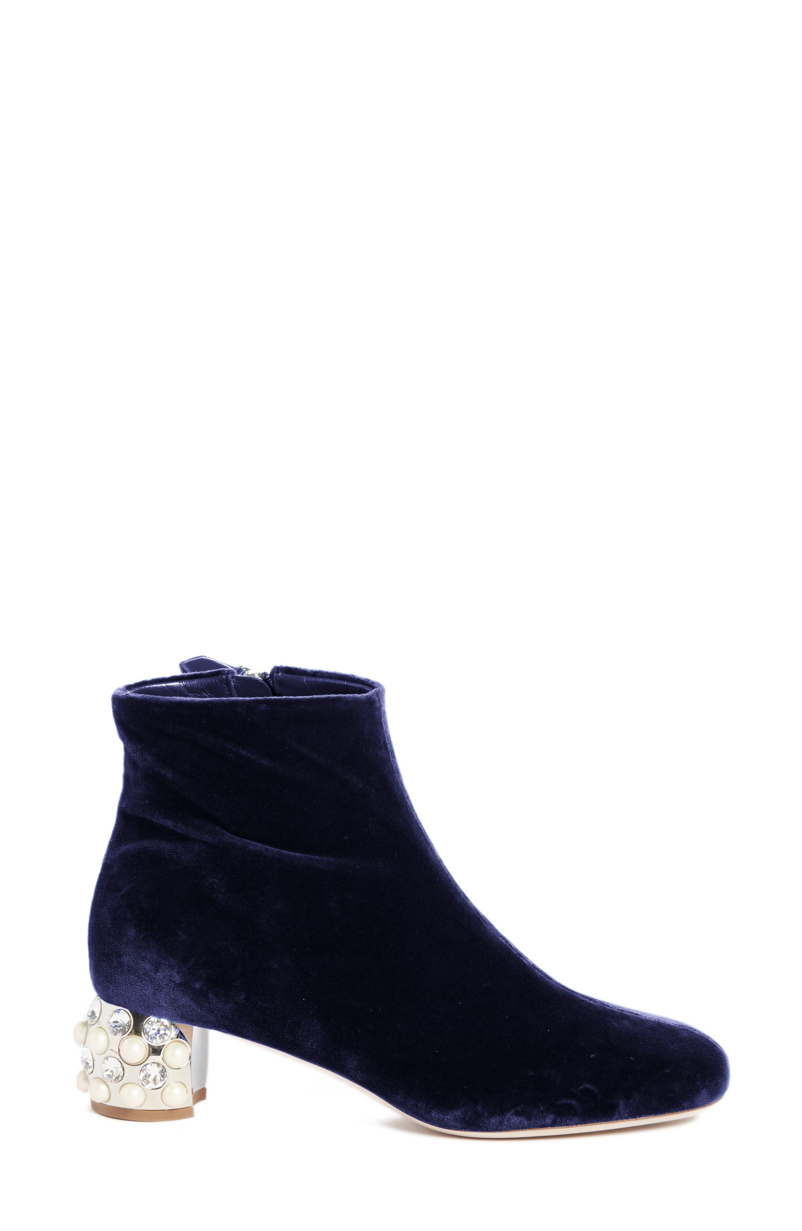 Embellished Block Heel Boot,                             Alternate thumbnail 4, color,                             400