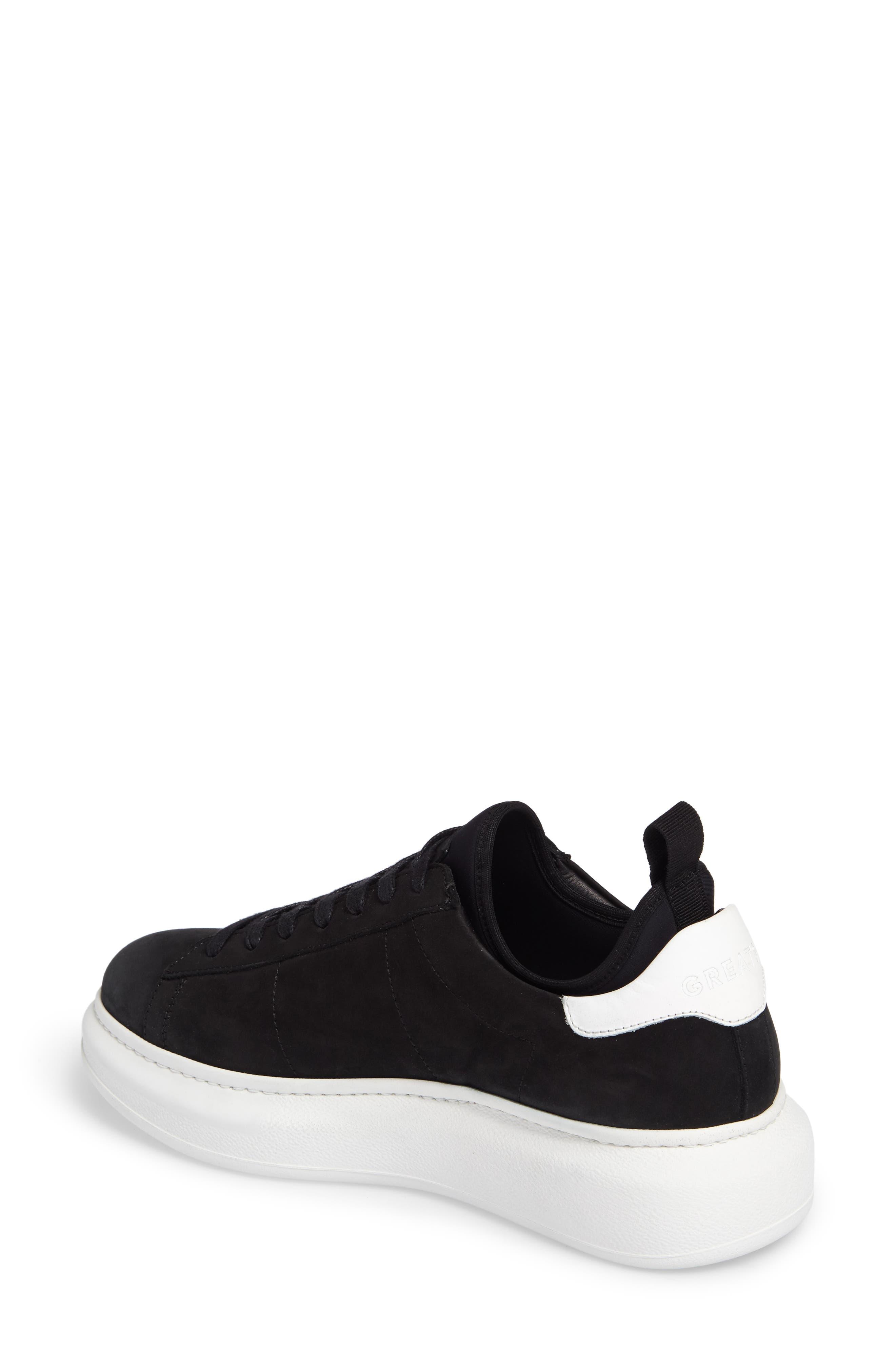 Alta Low Top Sneaker,                             Alternate thumbnail 2, color,                             BLACK NUBUCK LEATHER