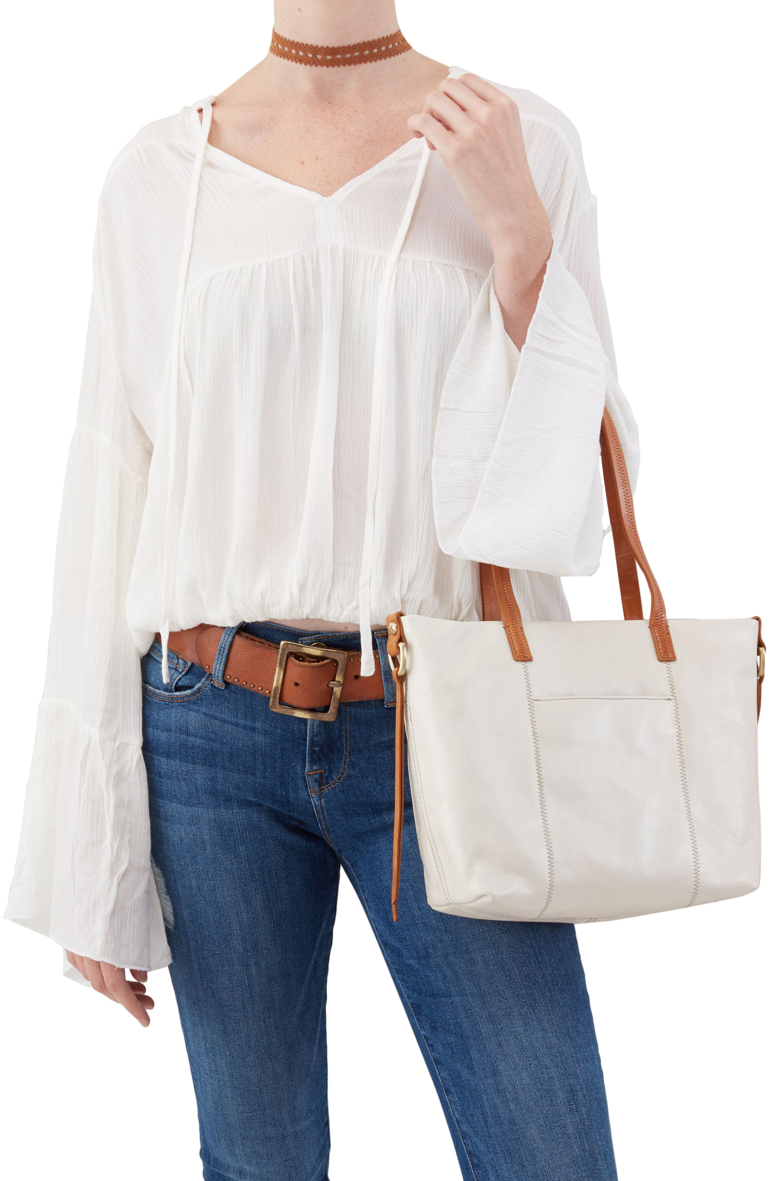 Cecily Leather Tote,                             Alternate thumbnail 6, color,
